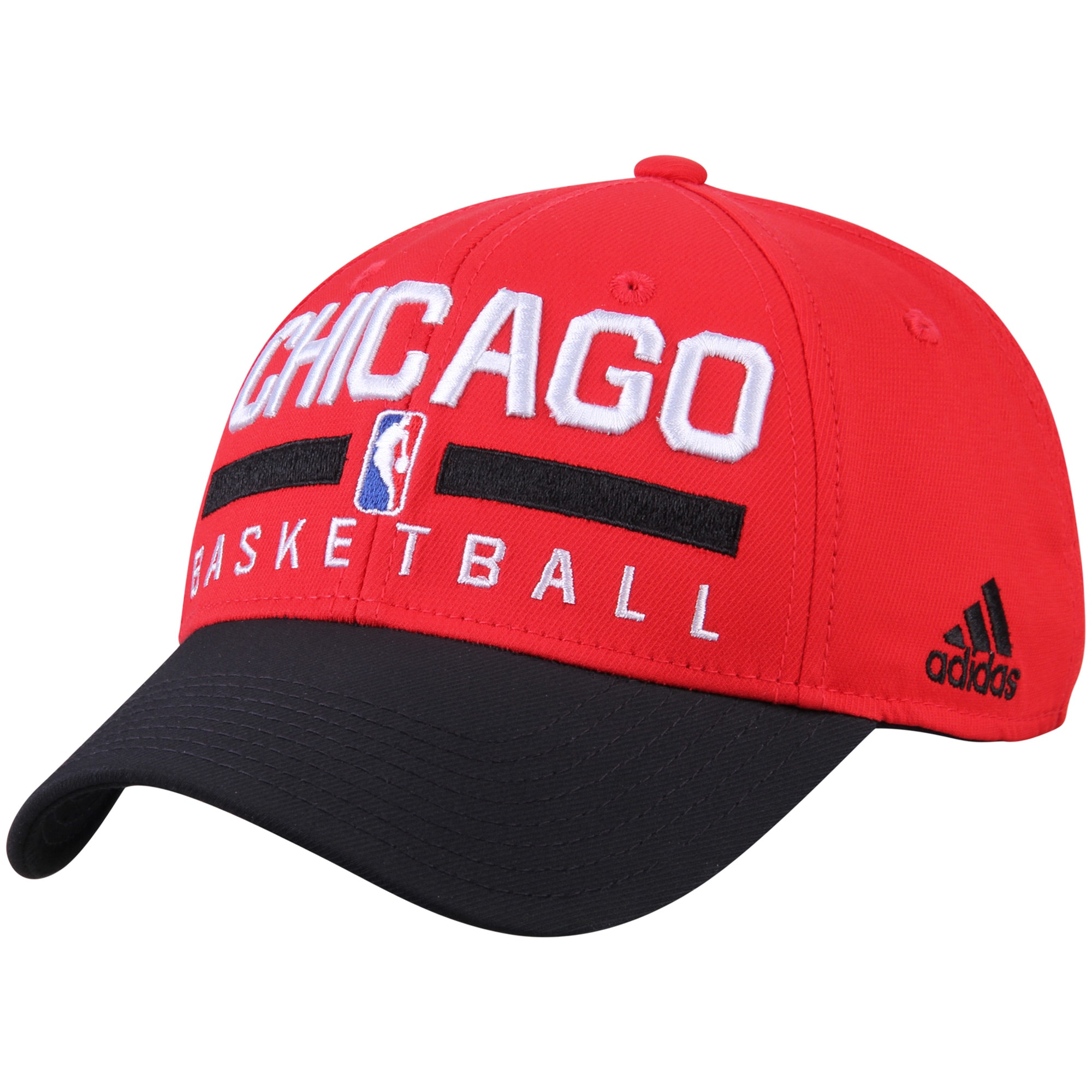 Chicago Bulls adidas 2-Tone Practice Structured Snapback Hat - Red/Black