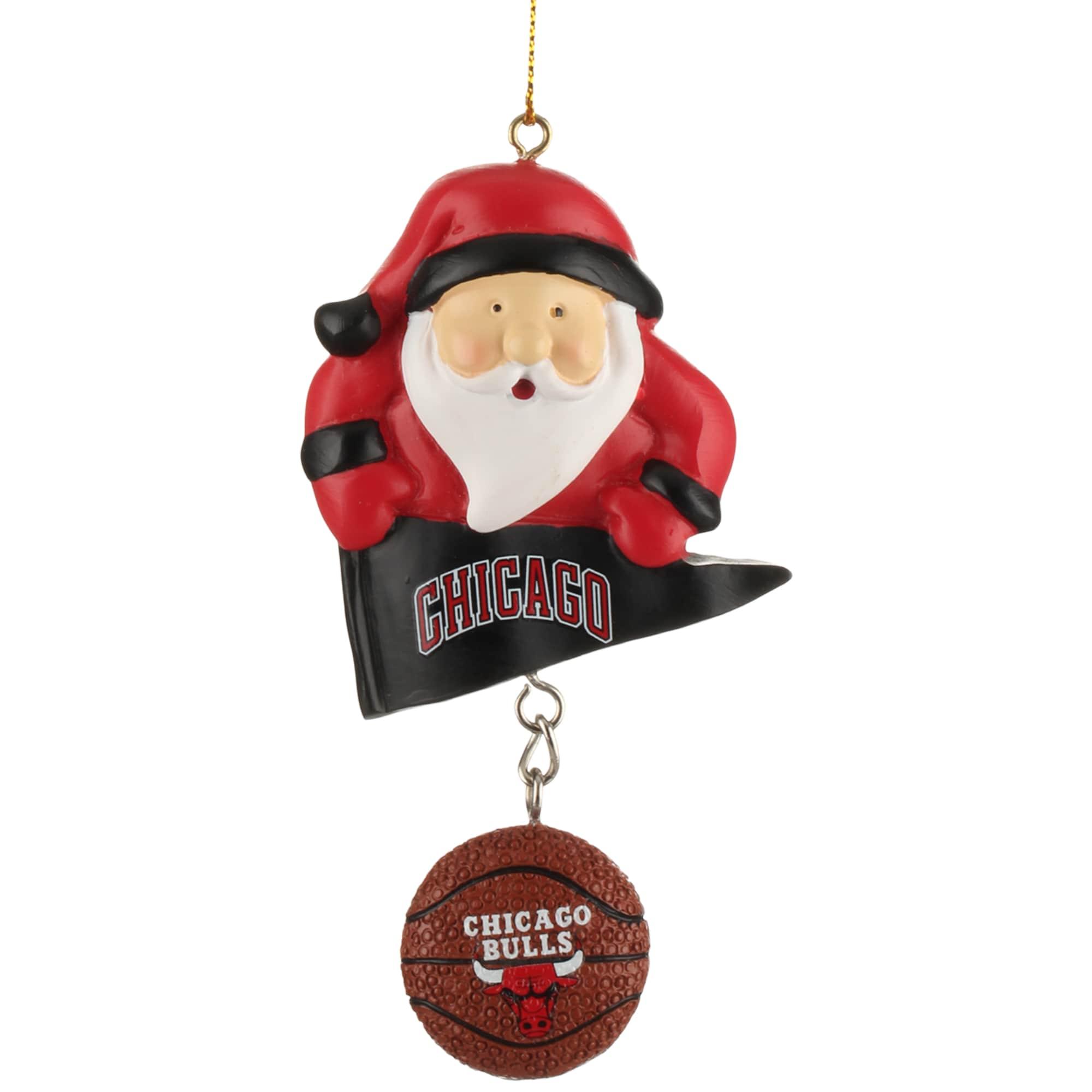 Chicago Bulls Santa With Team Ball Ornament