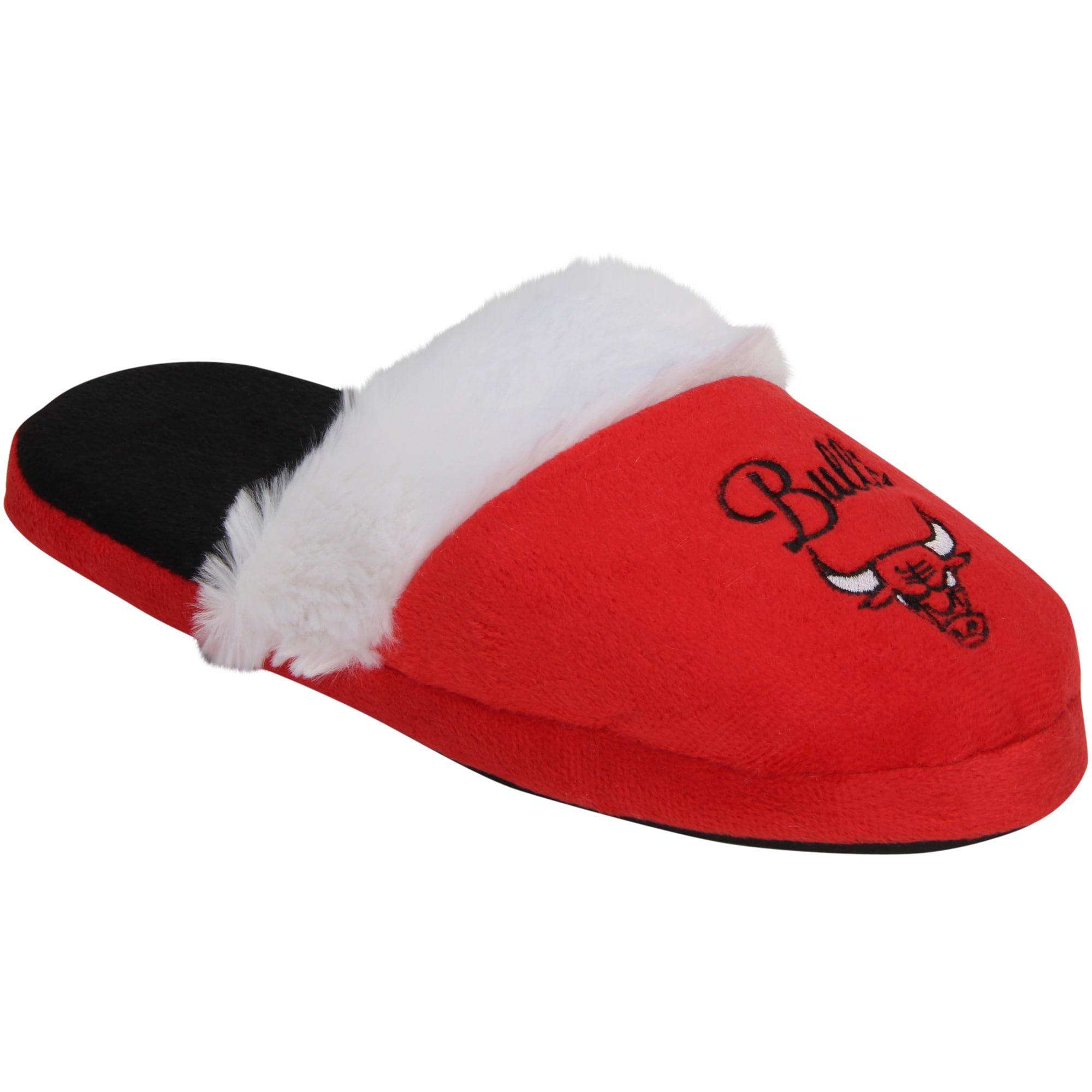 Chicago Bulls Women's Colorblock Fur Slide Slippers