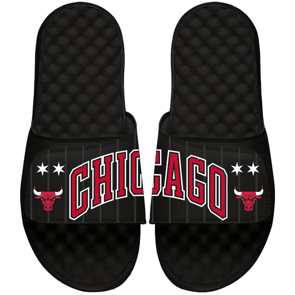 Chicago Bulls ISlide Youth Statement Jersey Slide Sandals - Black