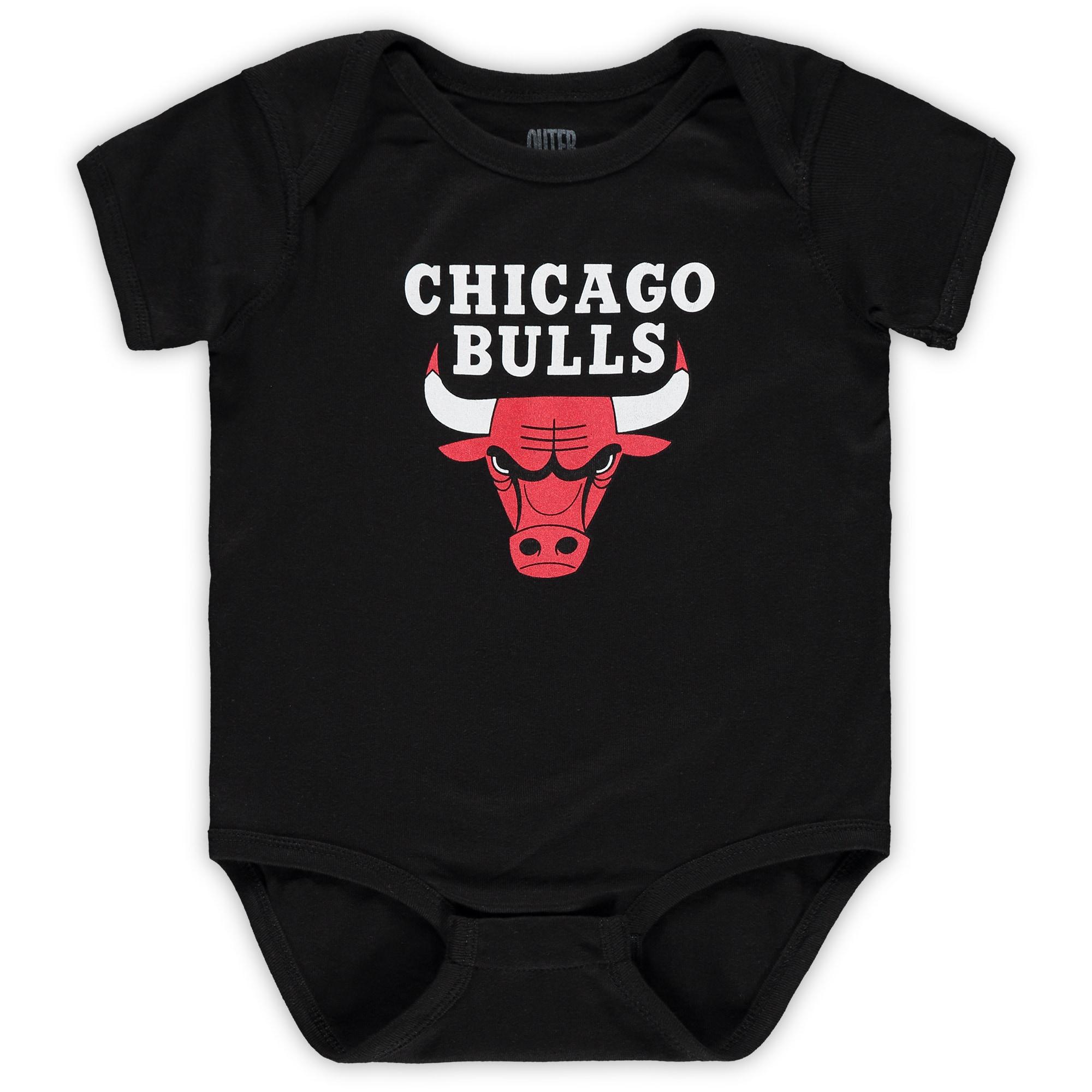 Chicago Bulls Infant Primary Team Logo Bodysuit - Black