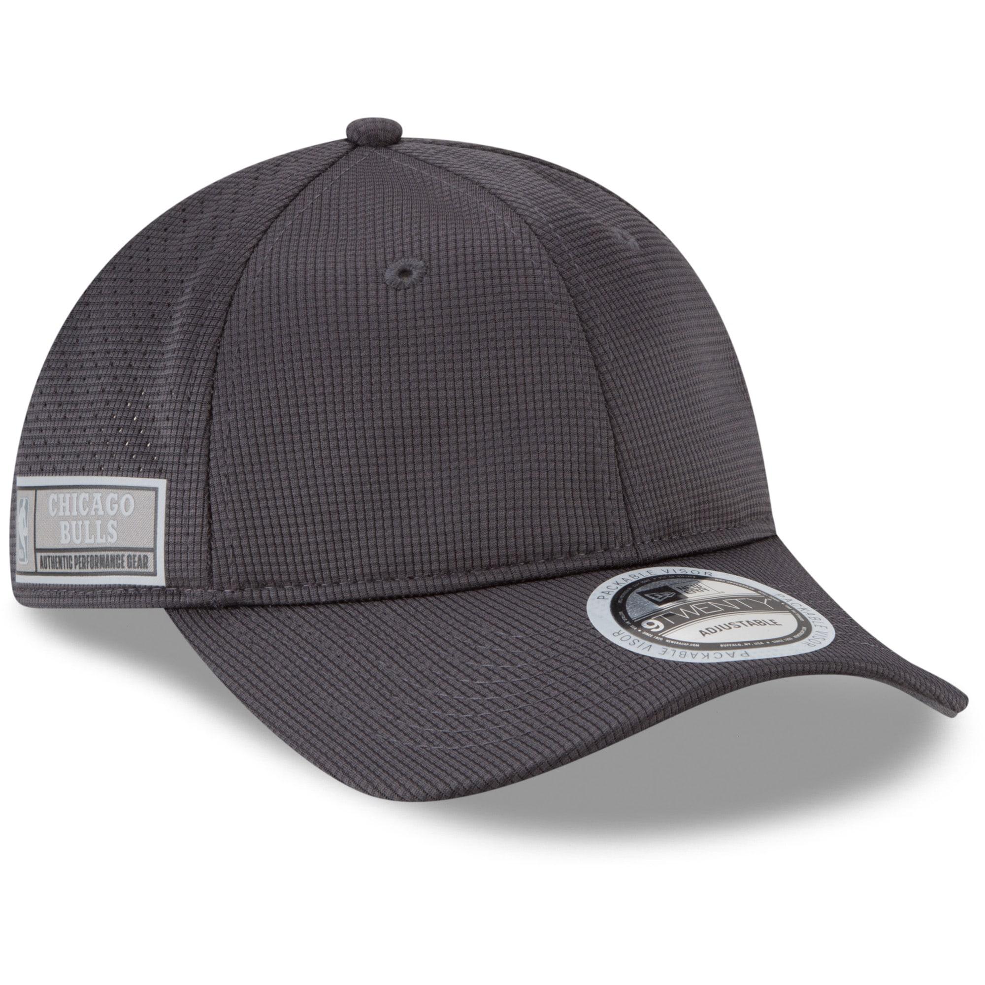 Chicago Bulls New Era Authentics Training 9TWENTY Adjustable Hat - Graphite