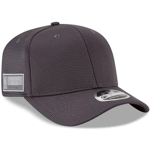 Chicago Bulls New Era Authentics Training 9FIFTY Adjustable Snapback Hat - Graphite