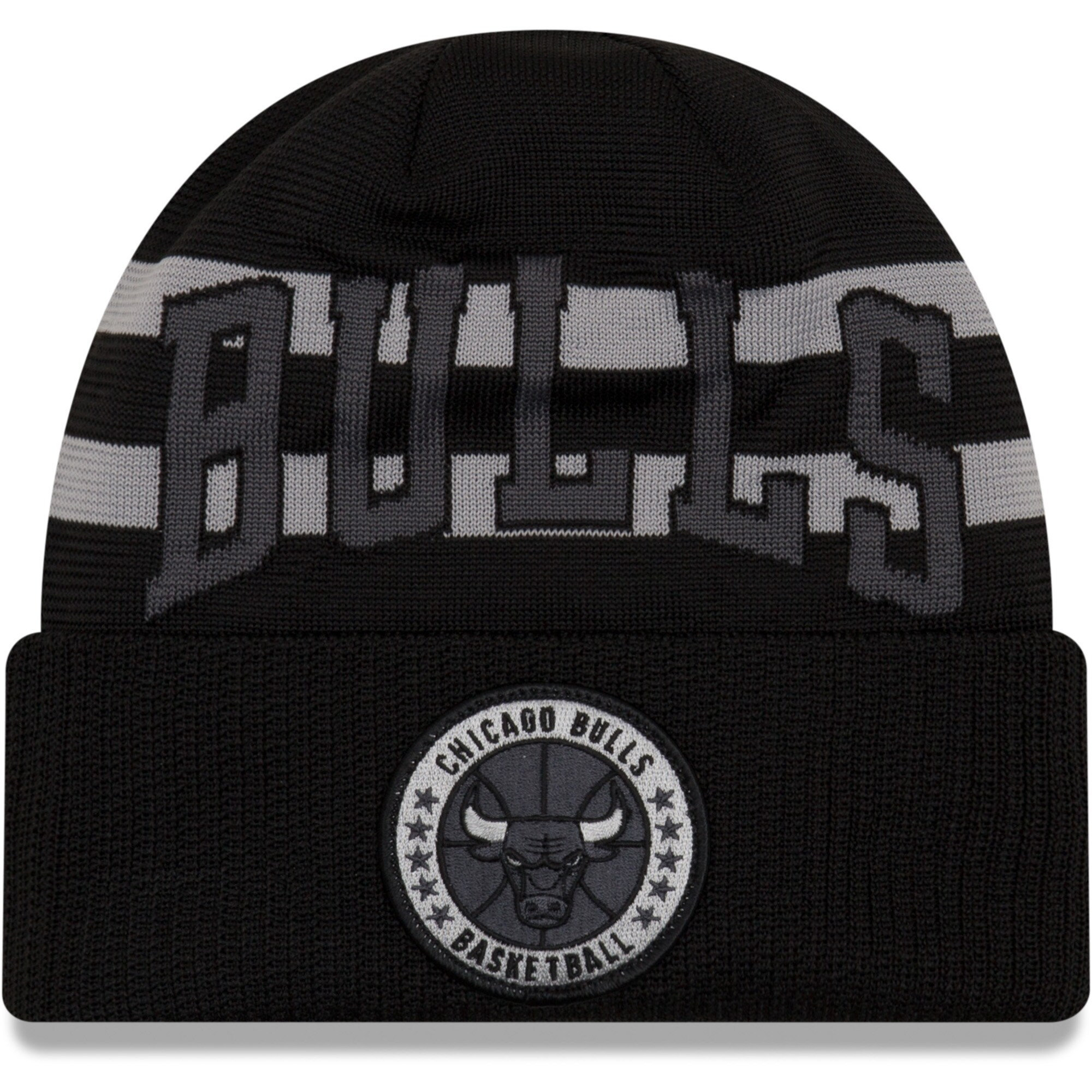 Chicago Bulls New Era 2018 Tip Off Series Cuffed Knit Hat - Black