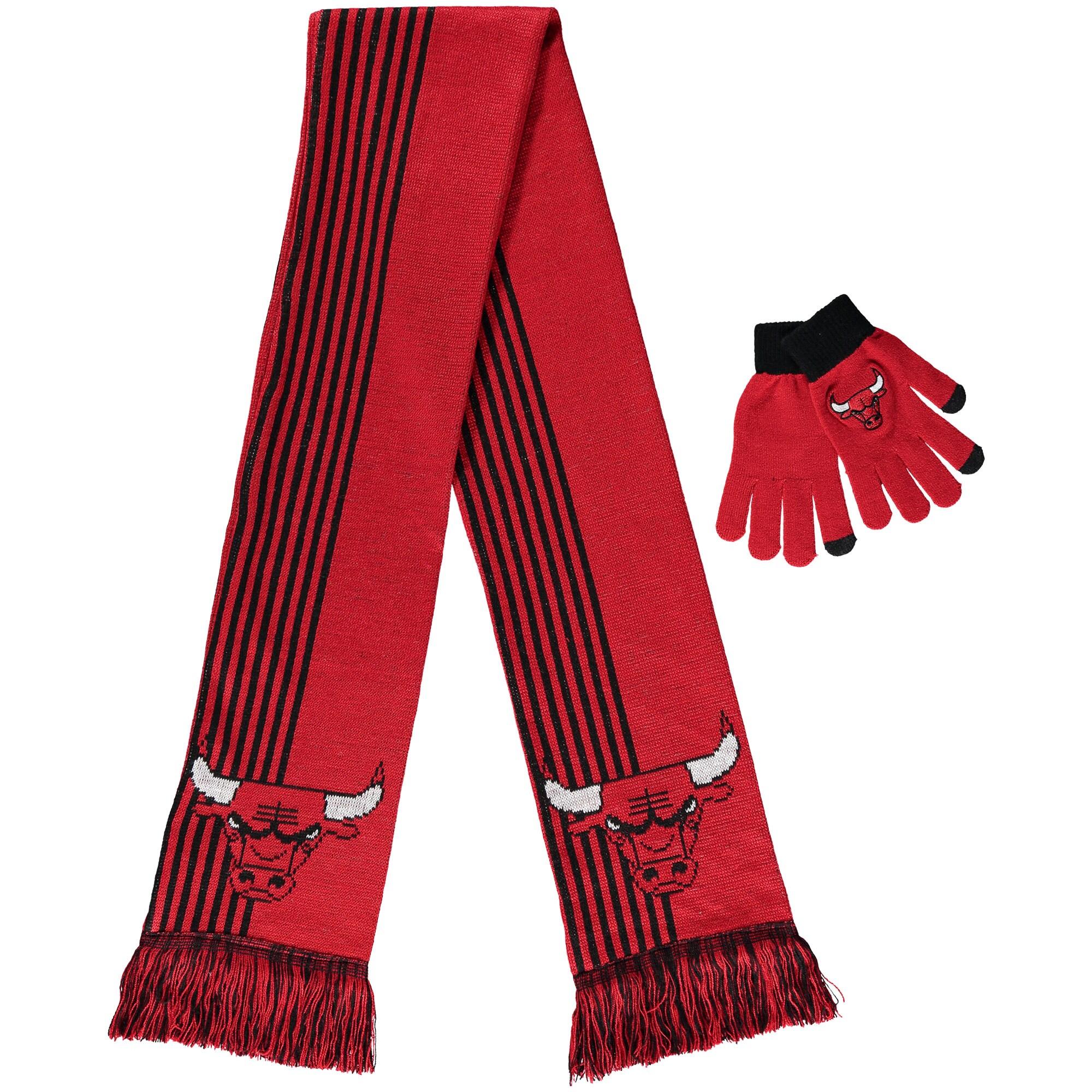 Chicago Bulls Women's Gloves & Scarf Set - Red