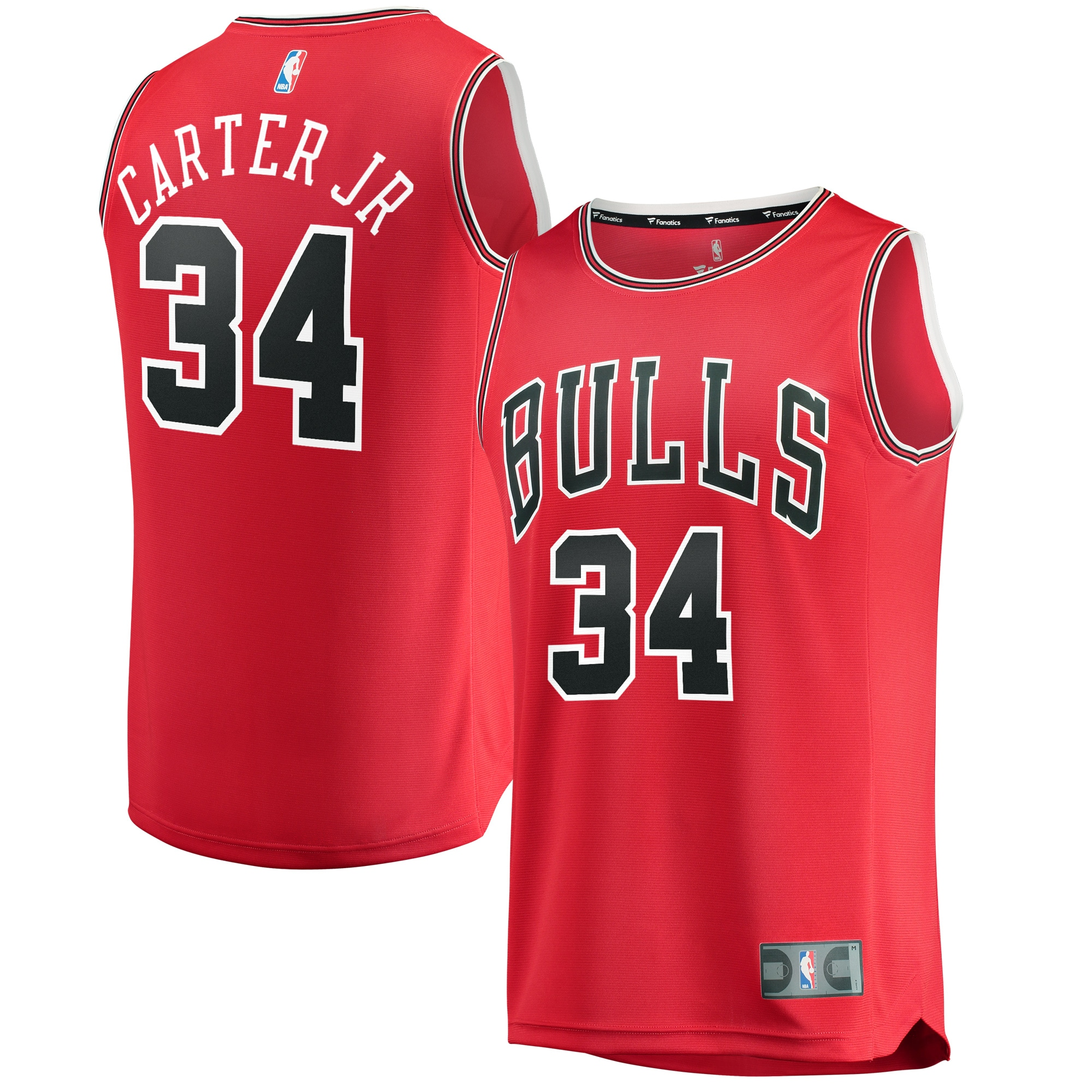 Wendell Carter Jr. Chicago Bulls Fanatics Branded Fast Break Replica Jersey - Icon Edition - Red