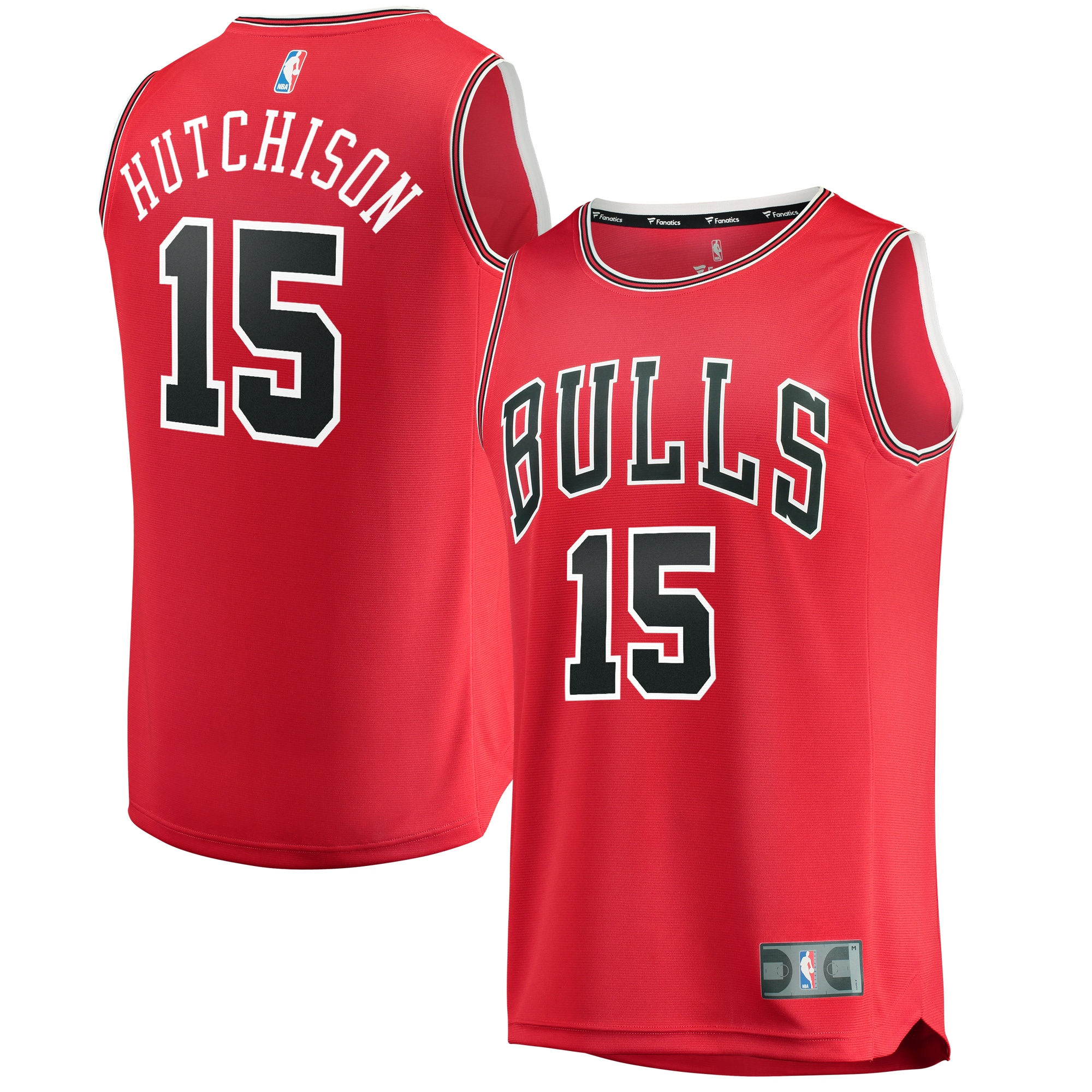 Chandler Hutchison Chicago Bulls Fanatics Branded Fast Break Replica Jersey - Icon Edition - Red