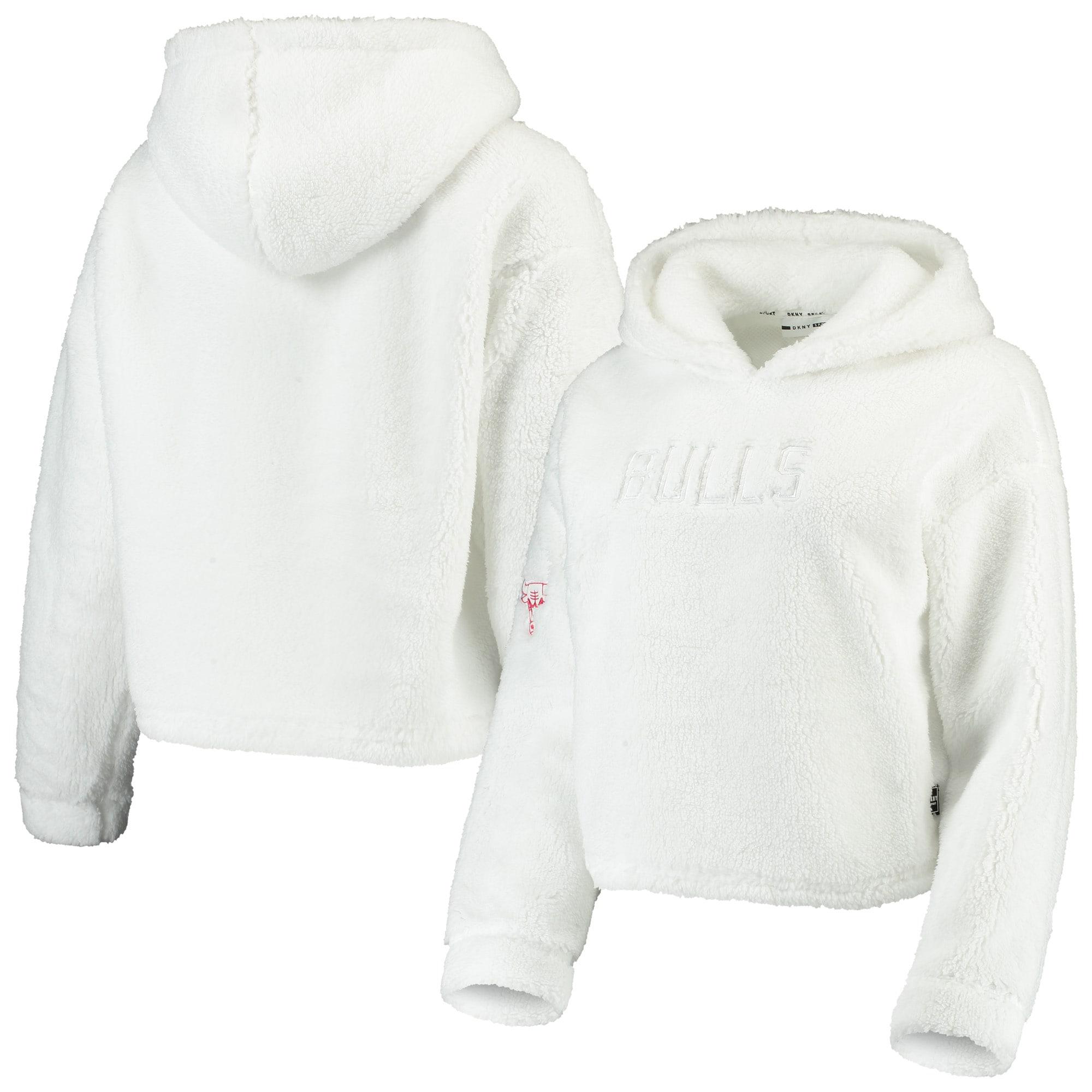 Chicago Bulls DKNY Sport Women's Cozy Pullover Hoodie - White