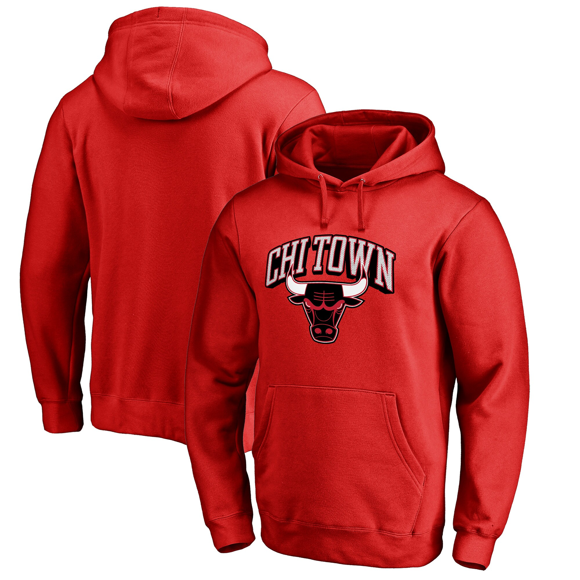 Chicago Bulls Fanatics Branded Big & Tall Chi Town Hometown Collection Pullover Hoodie - Red