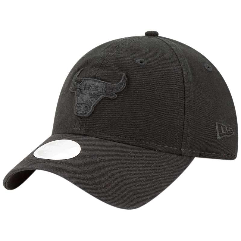 Chicago Bulls New Era Women's Core Classic Tonal Team 9TWENTY Adjustable Hat - Black