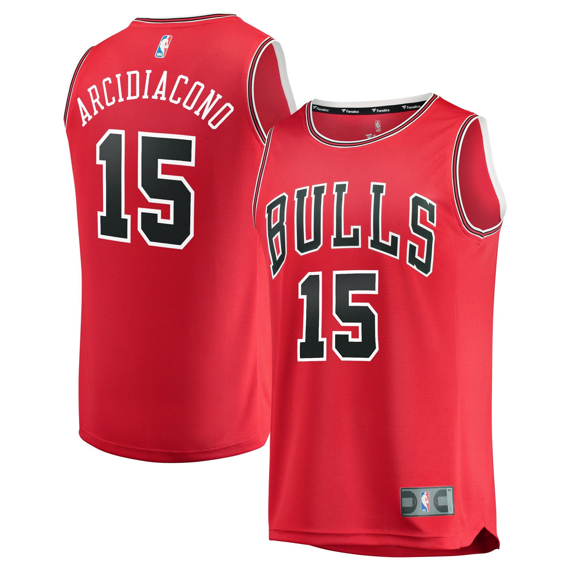 Ryan Arcidiacono Chicago Bulls Fanatics Branded Fast Break Road Replica Player Jersey Red - Icon Edition