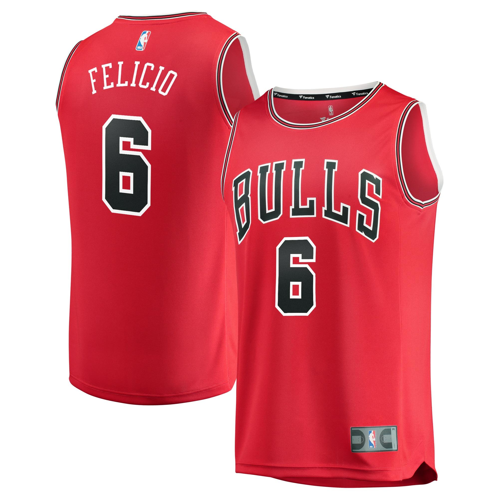 Cristiano Felicio Chicago Bulls Fanatics Branded Fast Break Road Replica Player Jersey Red - Icon Edition