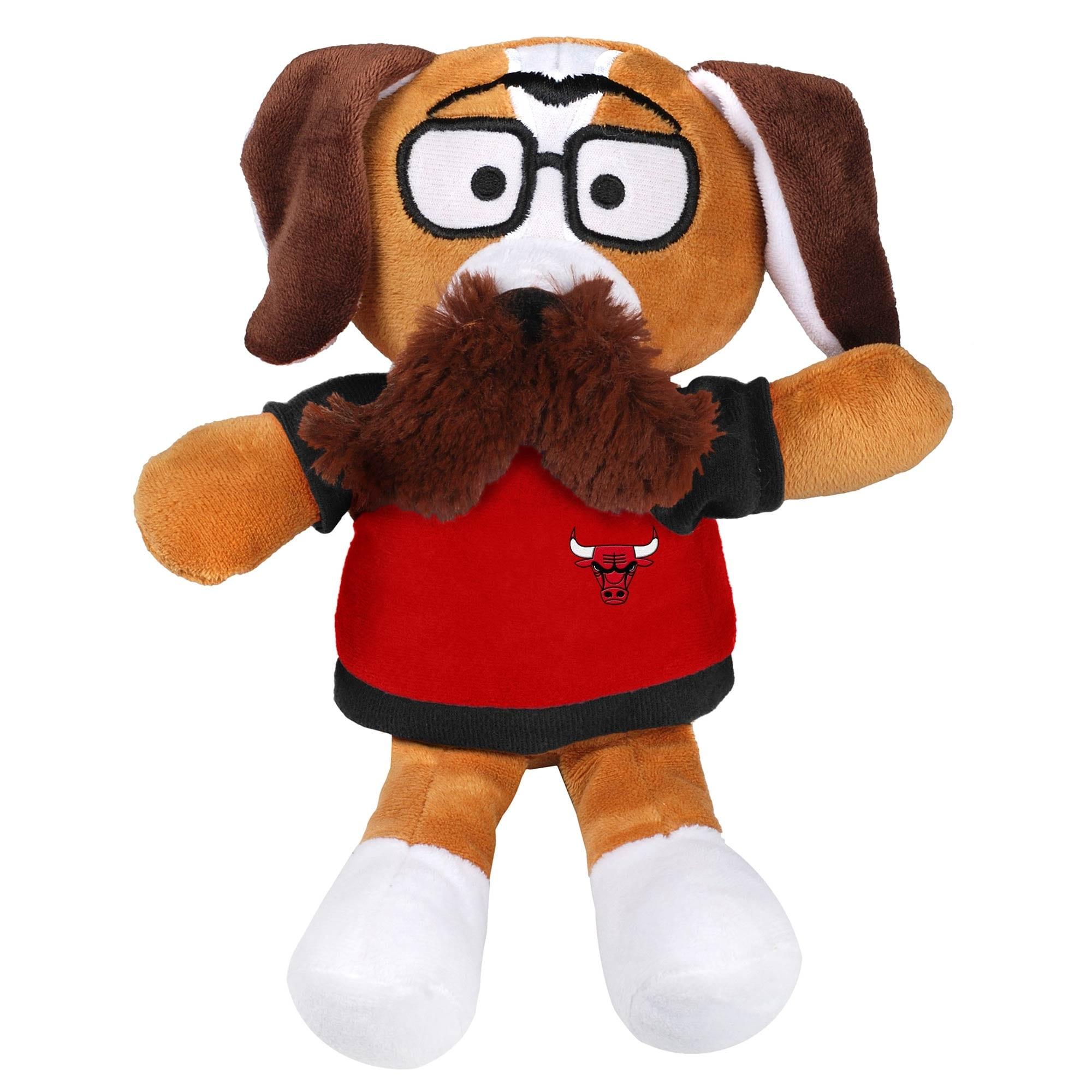 Chicago Bulls Moustache Dog Plush
