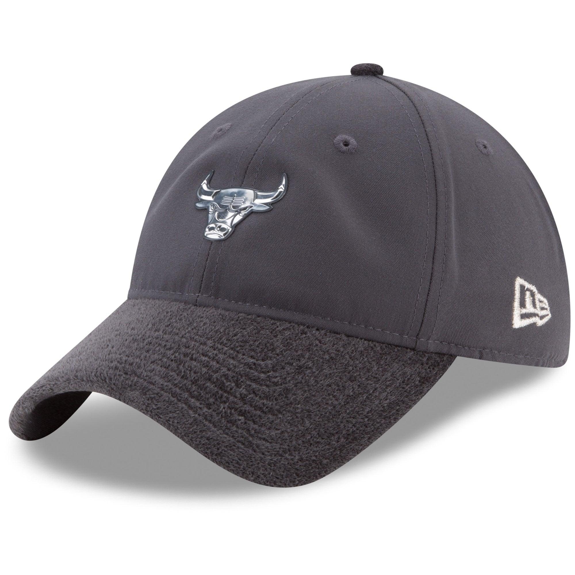Chicago Bulls New Era On-Court Silver Logo 9TWENTY Adjustable Hat - Graphite