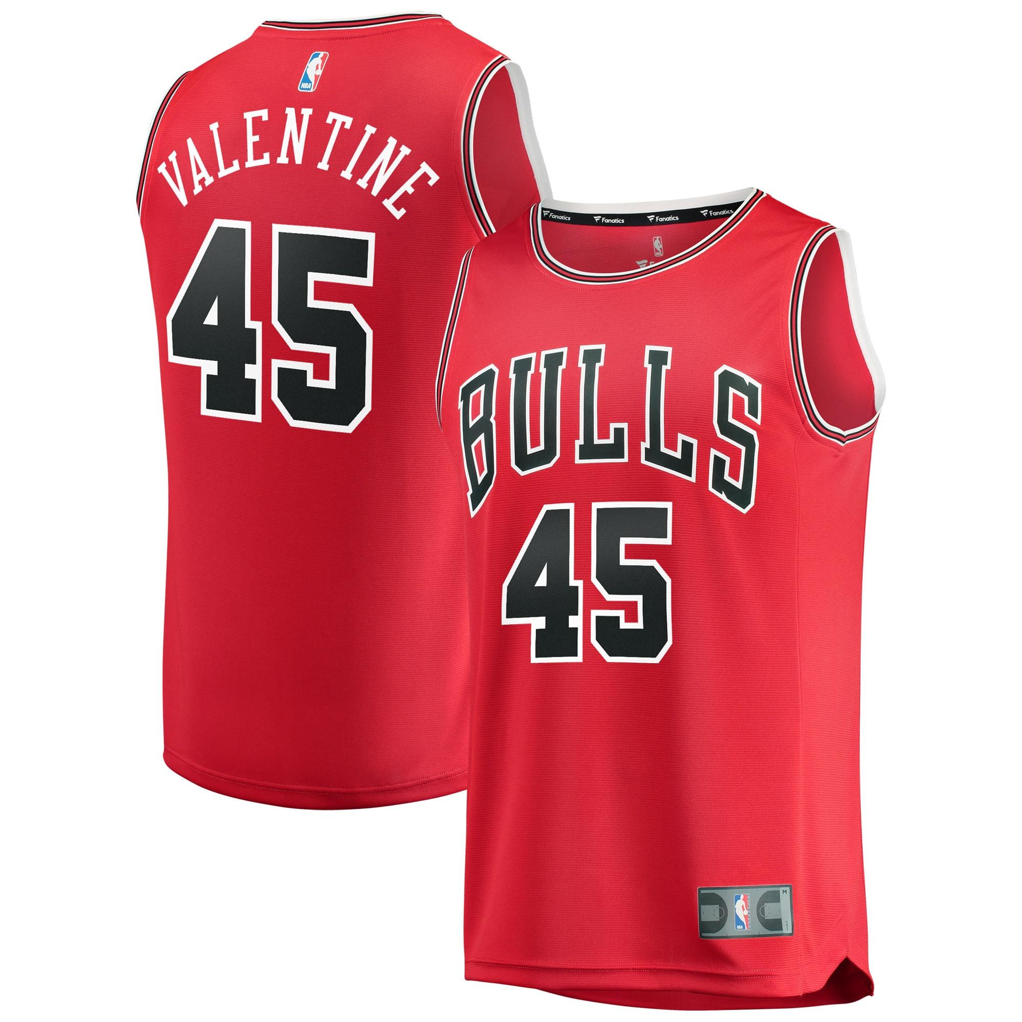 Denzel Valentine Chicago Bulls Fanatics Branded Fast Break Replica Jersey Red - Icon Edition
