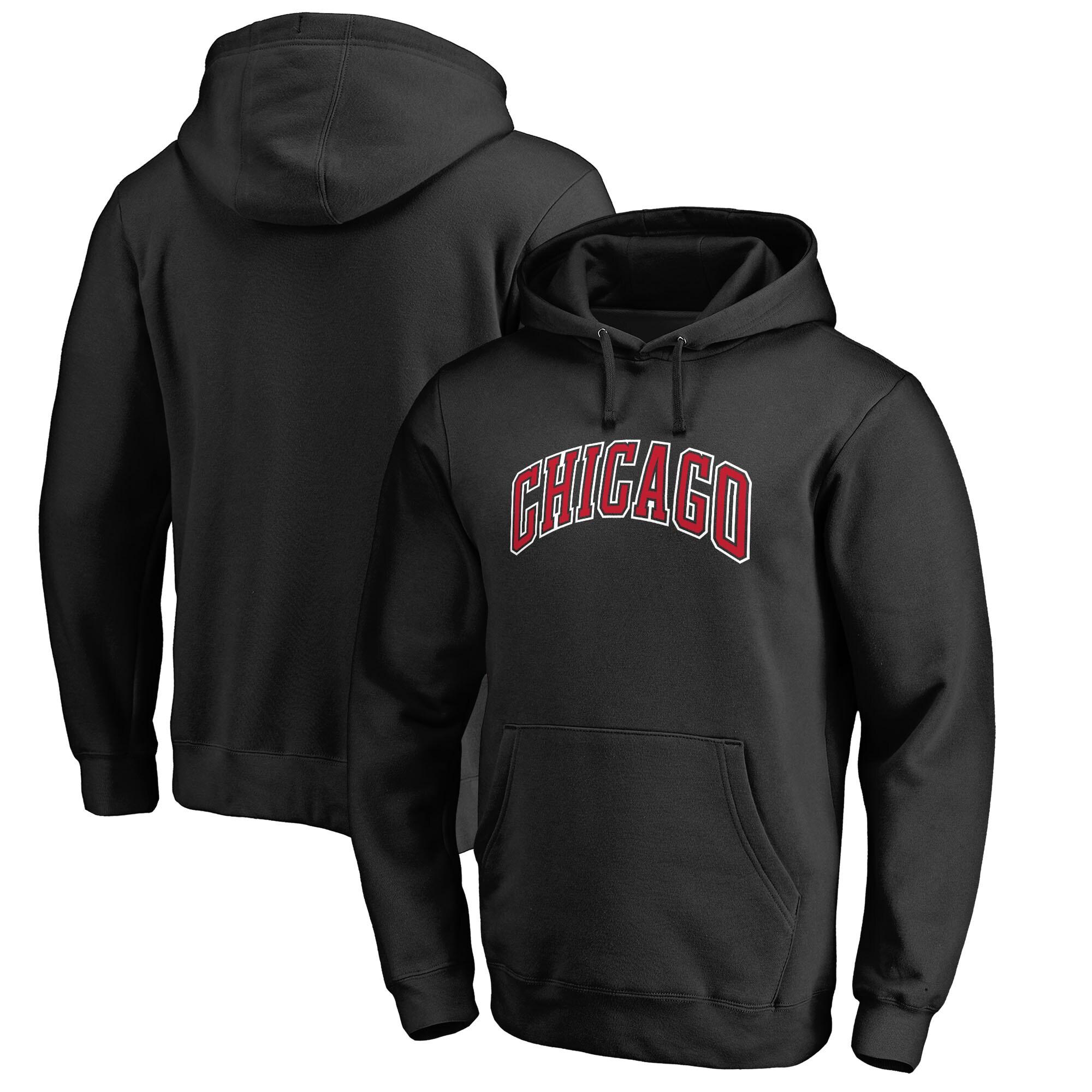 Chicago Bulls Fanatics Branded Alternate Logo Pullover Hoodie - Black