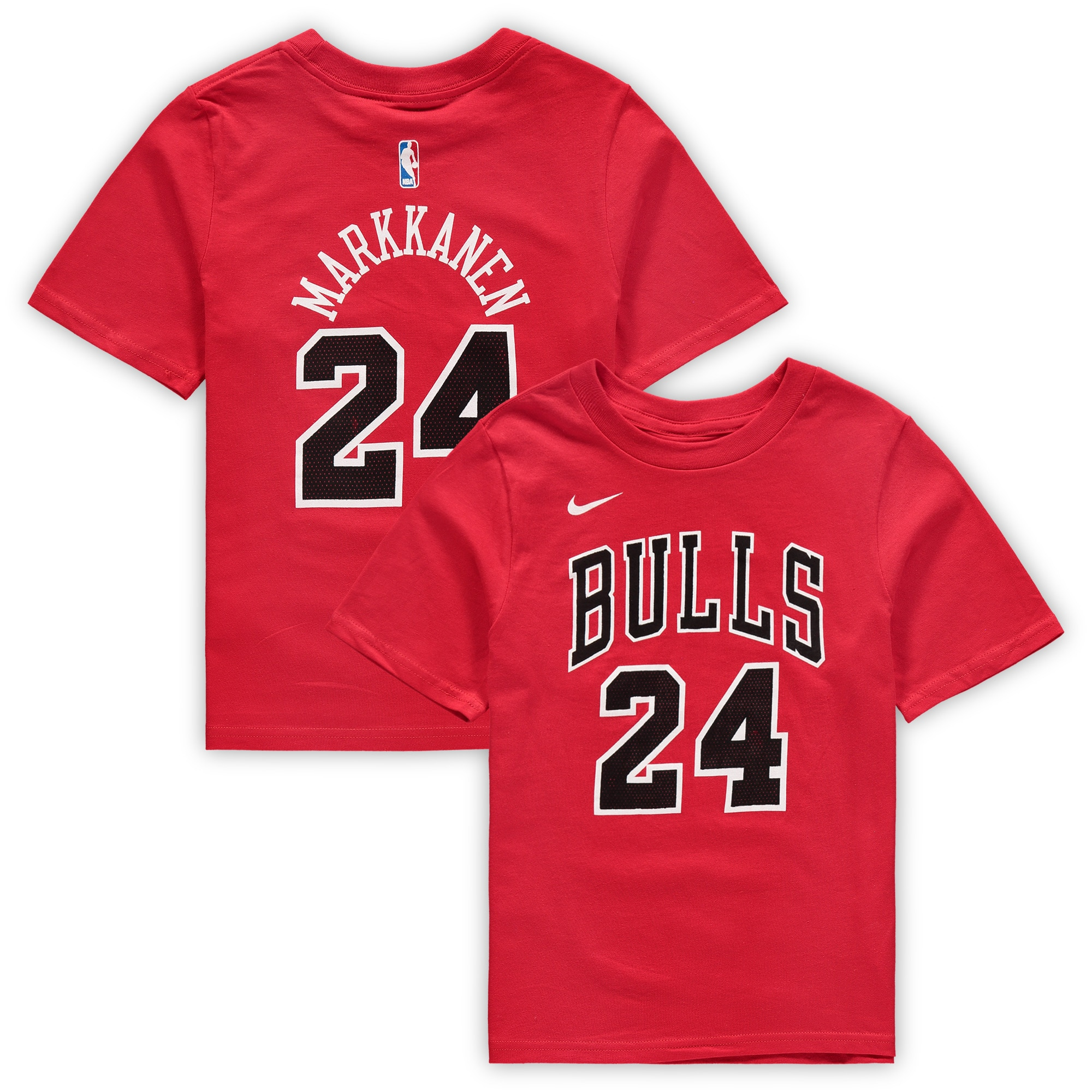 Lauri Markkanen Chicago Bulls Nike Preschool Name & Number T-Shirt - Red