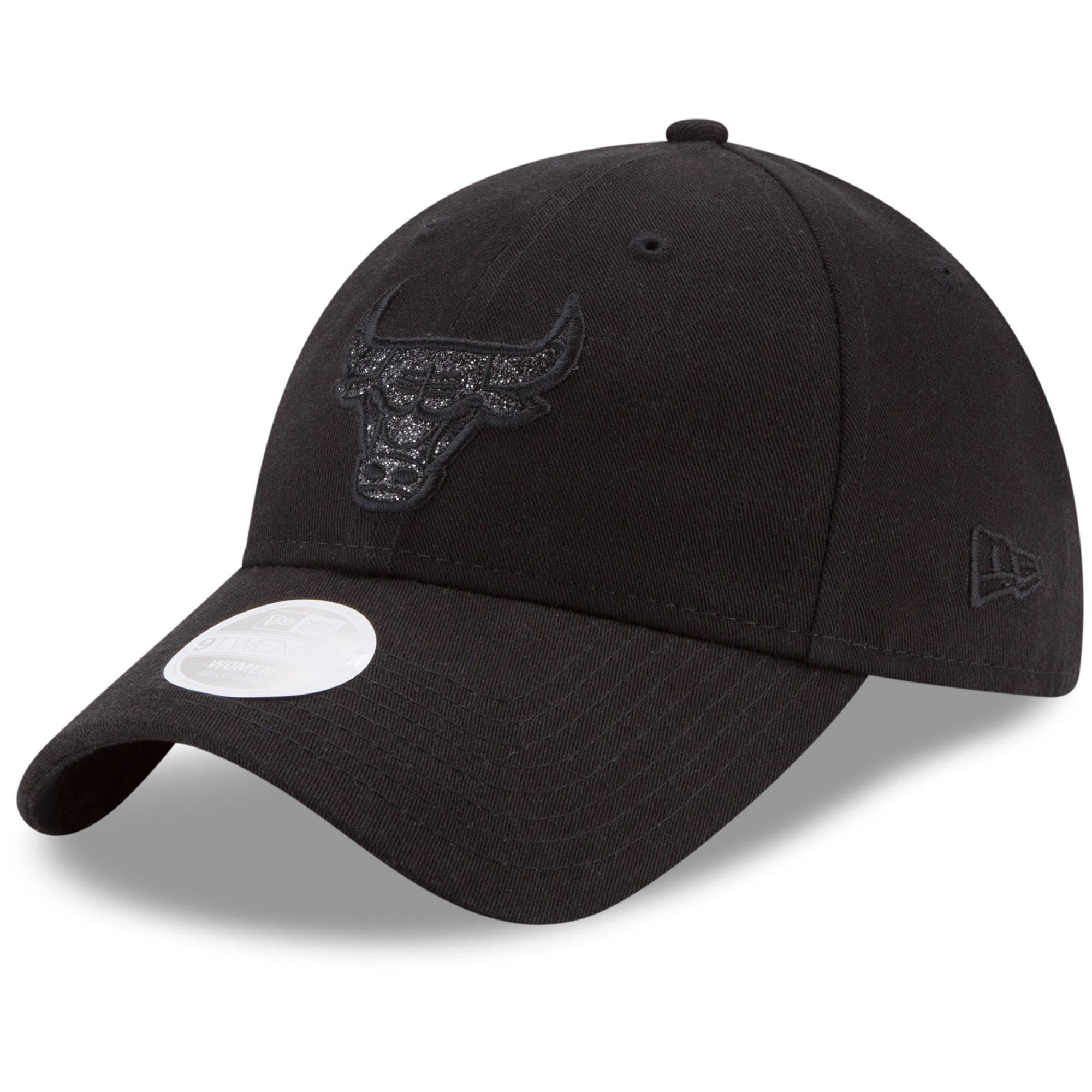 Chicago Bulls New Era Women's Team Logo Glisten 9TWENTY Adjustable Hat - Black