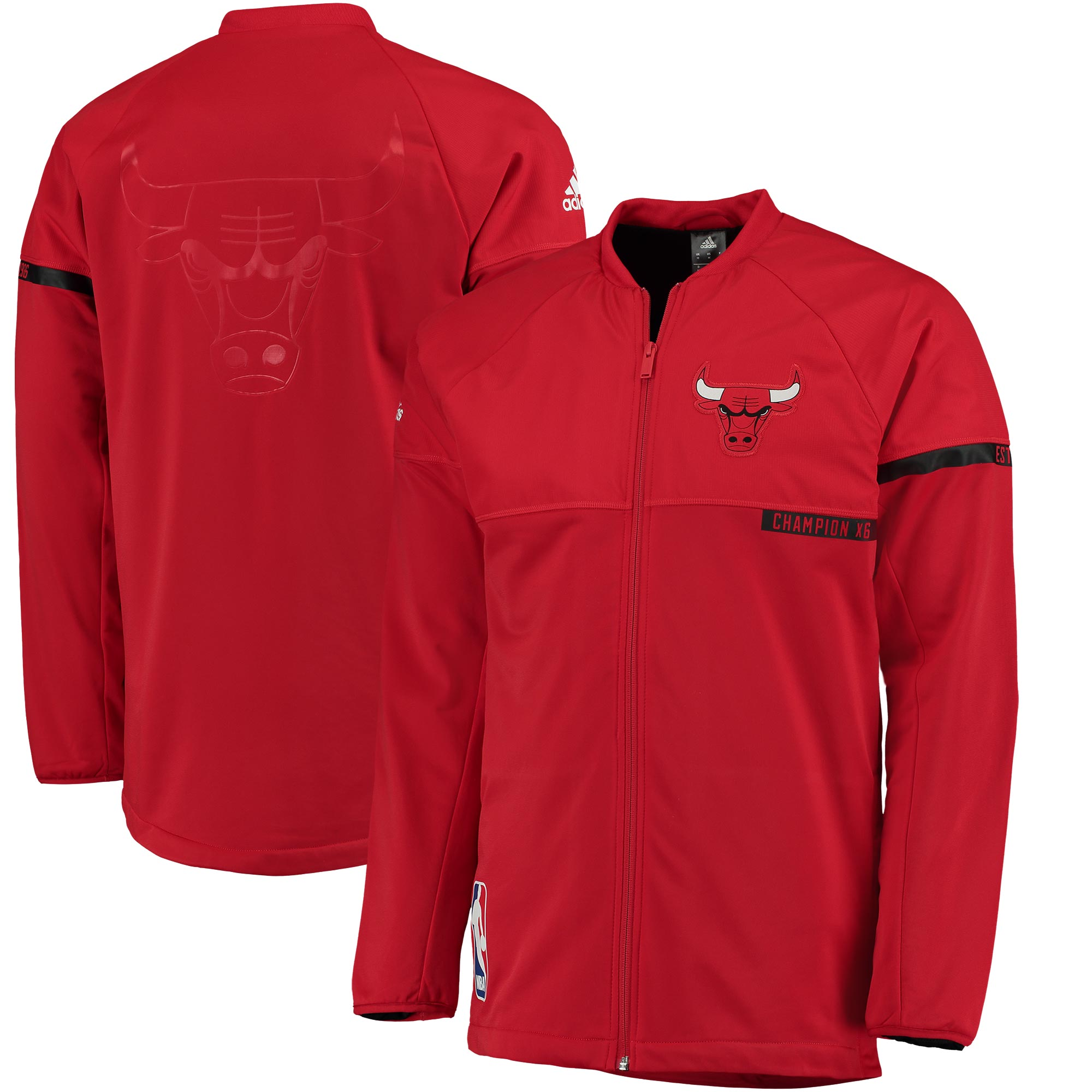 Chicago Bulls adidas 2016 On-Court Jacket - Red