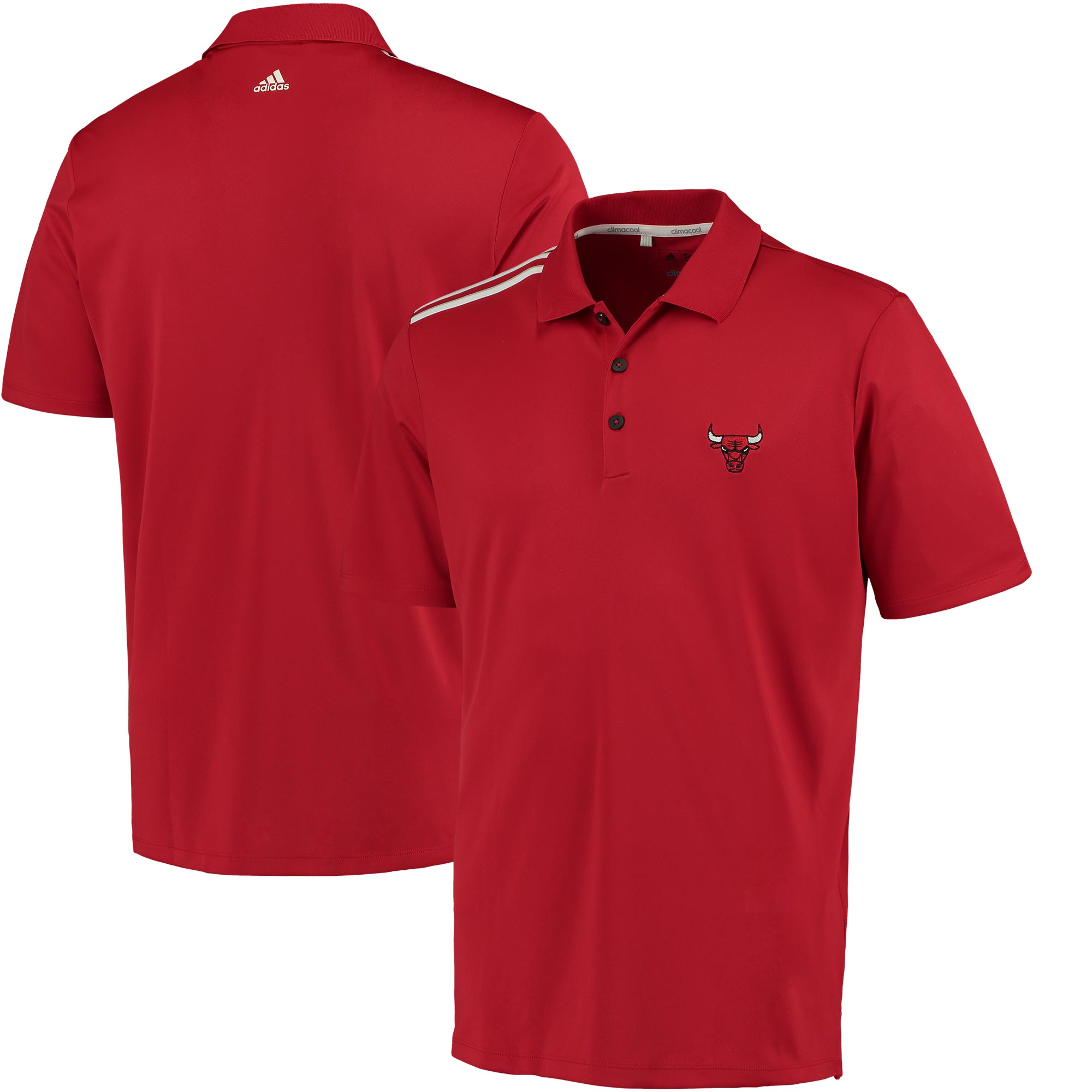 Chicago Bulls adidas 3-Stripes climacool Polo - Red