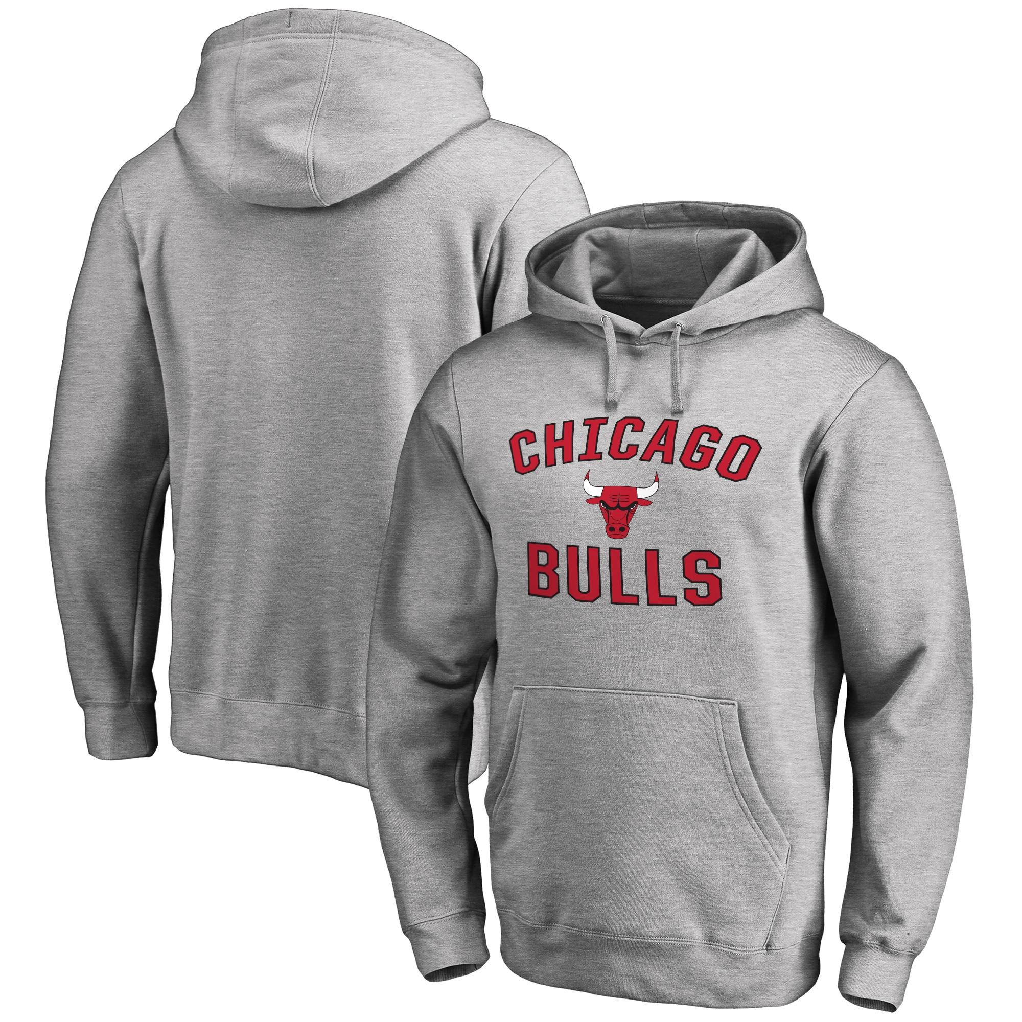 Chicago Bulls Victory Arch Pullover Hoodie - Ash