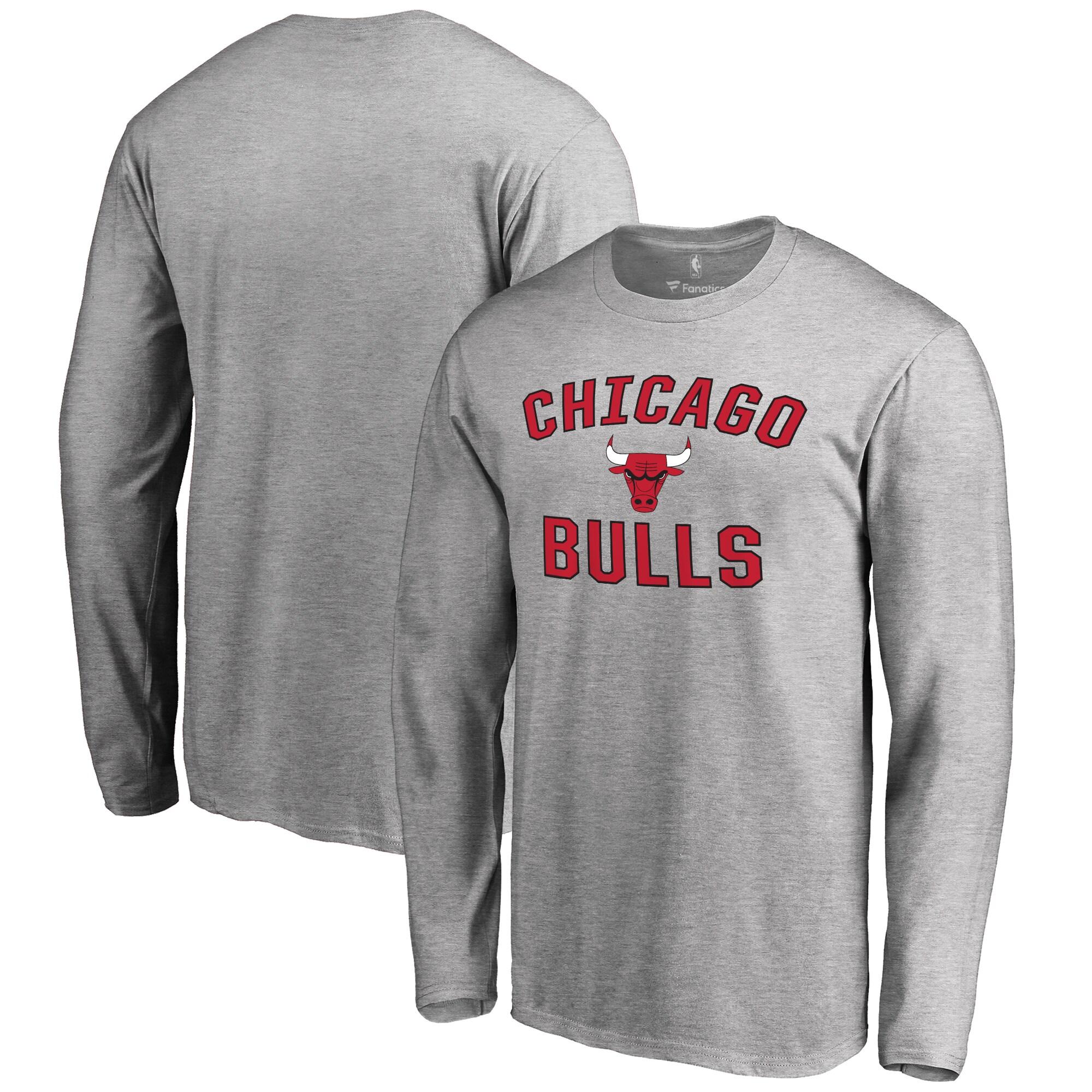 Chicago Bulls Big & Tall Victory Arch Long Sleeve T-Shirt - Ash