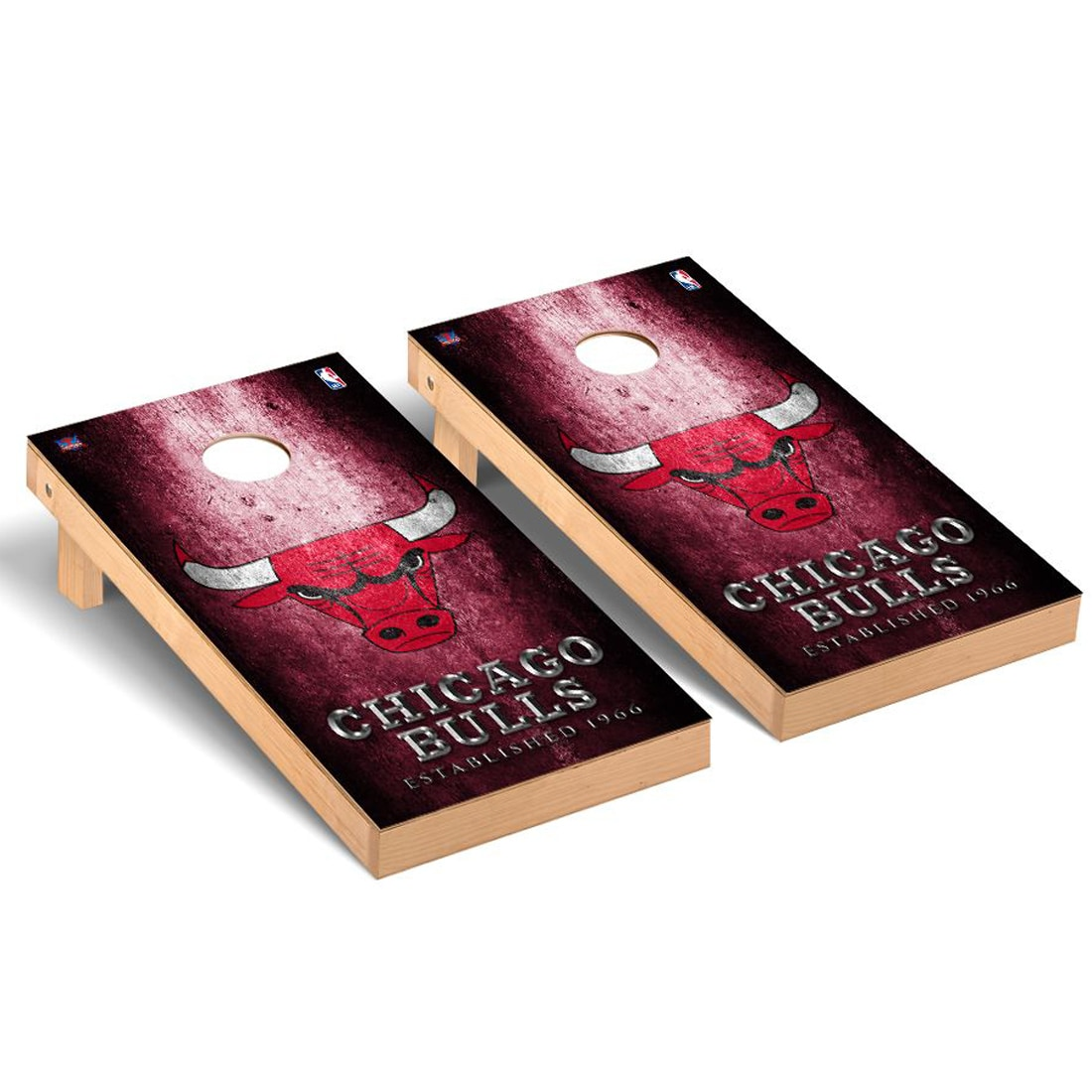 Chicago Bulls 2' x 4' Metal Design Cornhole Game Set