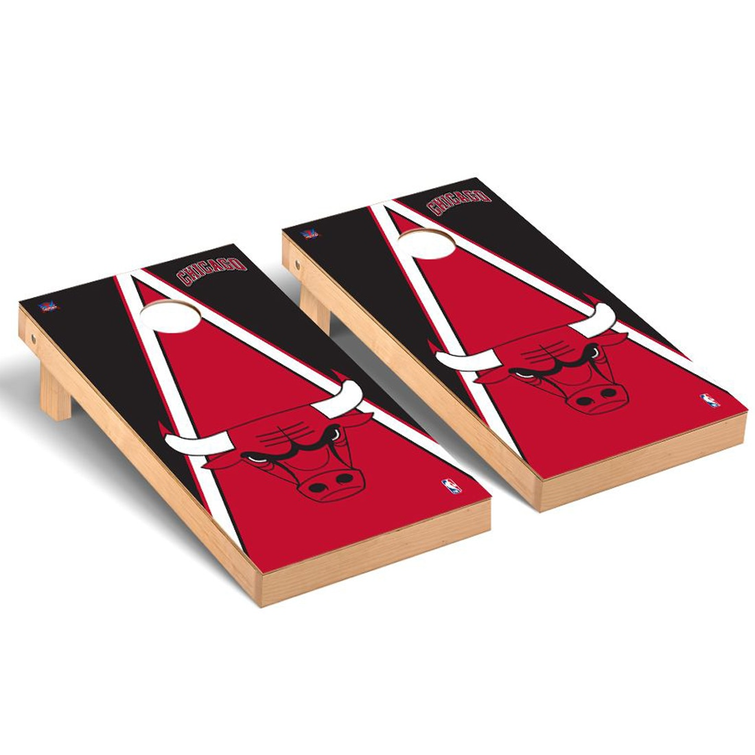 Chicago Bulls 2' x 4' Triangle Cornhole Game Set