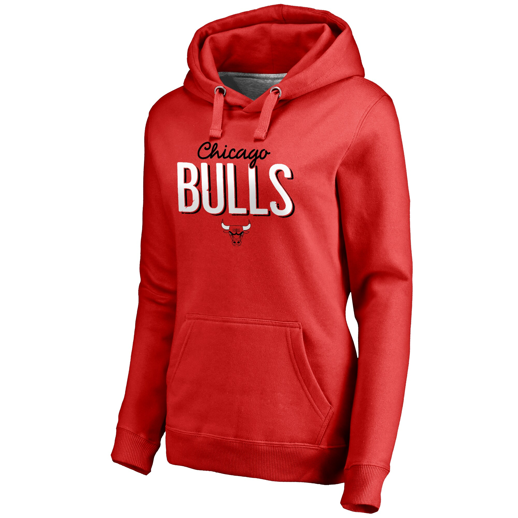 Chicago Bulls Women's Nostalgia Pullover Hoodie - Red