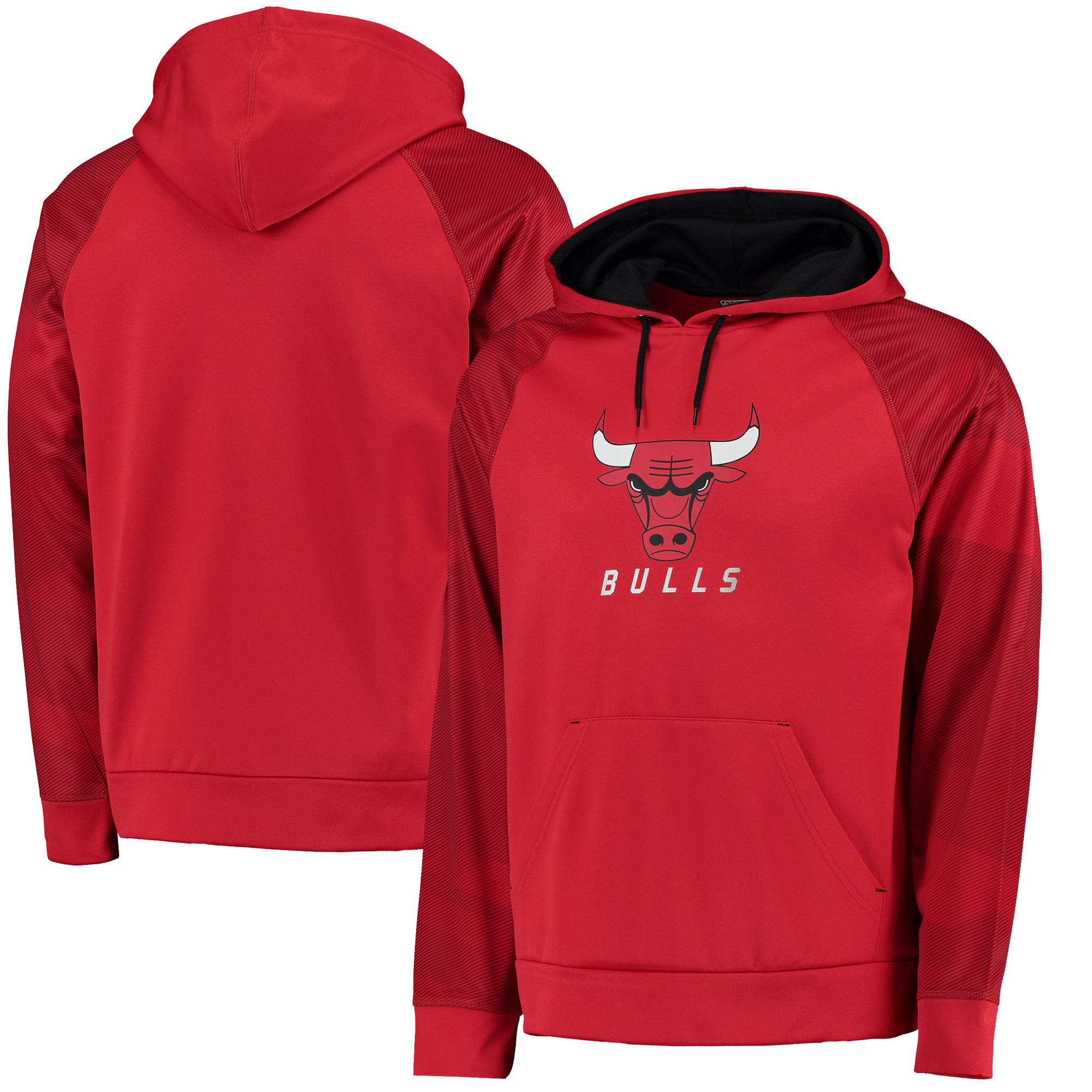 Chicago Bulls Majestic Big & Tall Armor II Pullover Hoodie - Red