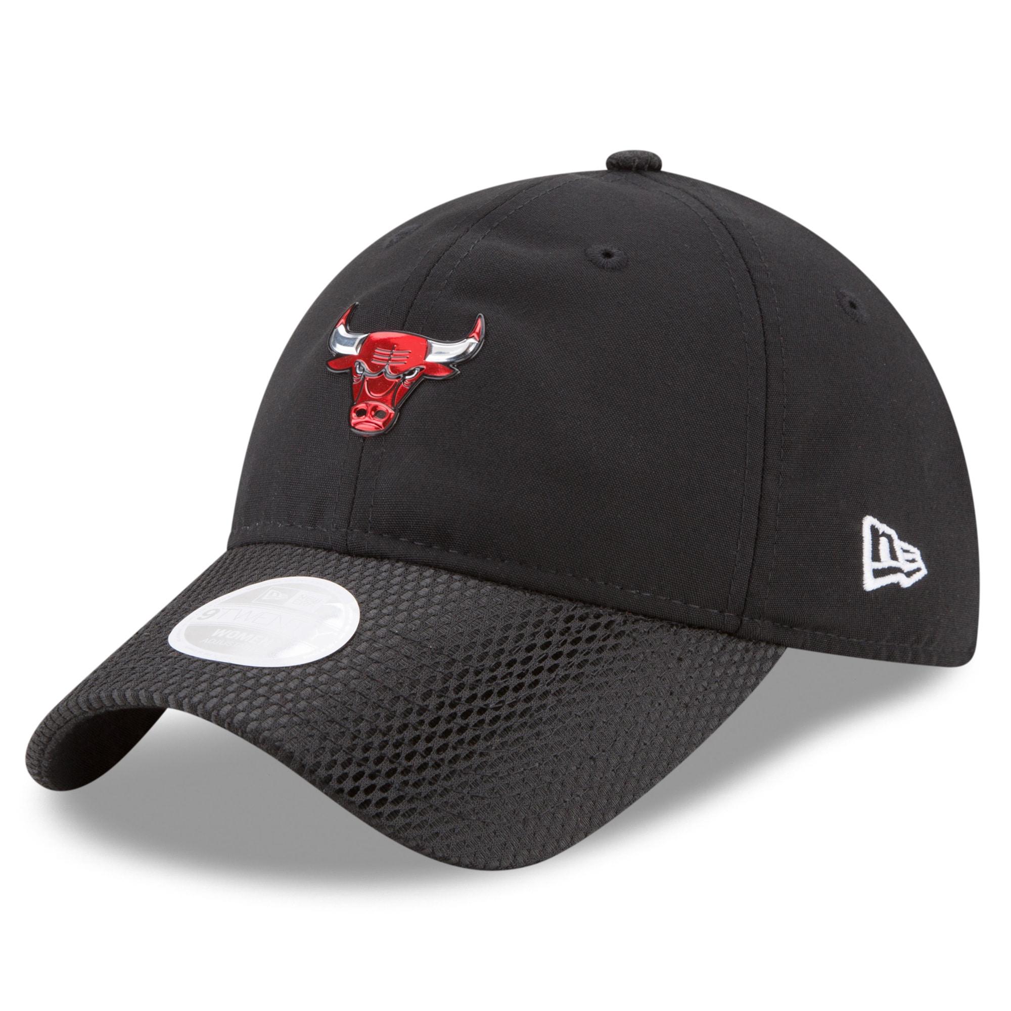 Chicago Bulls New Era Women's On-Court 9TWENTY Adjustable Hat - Black