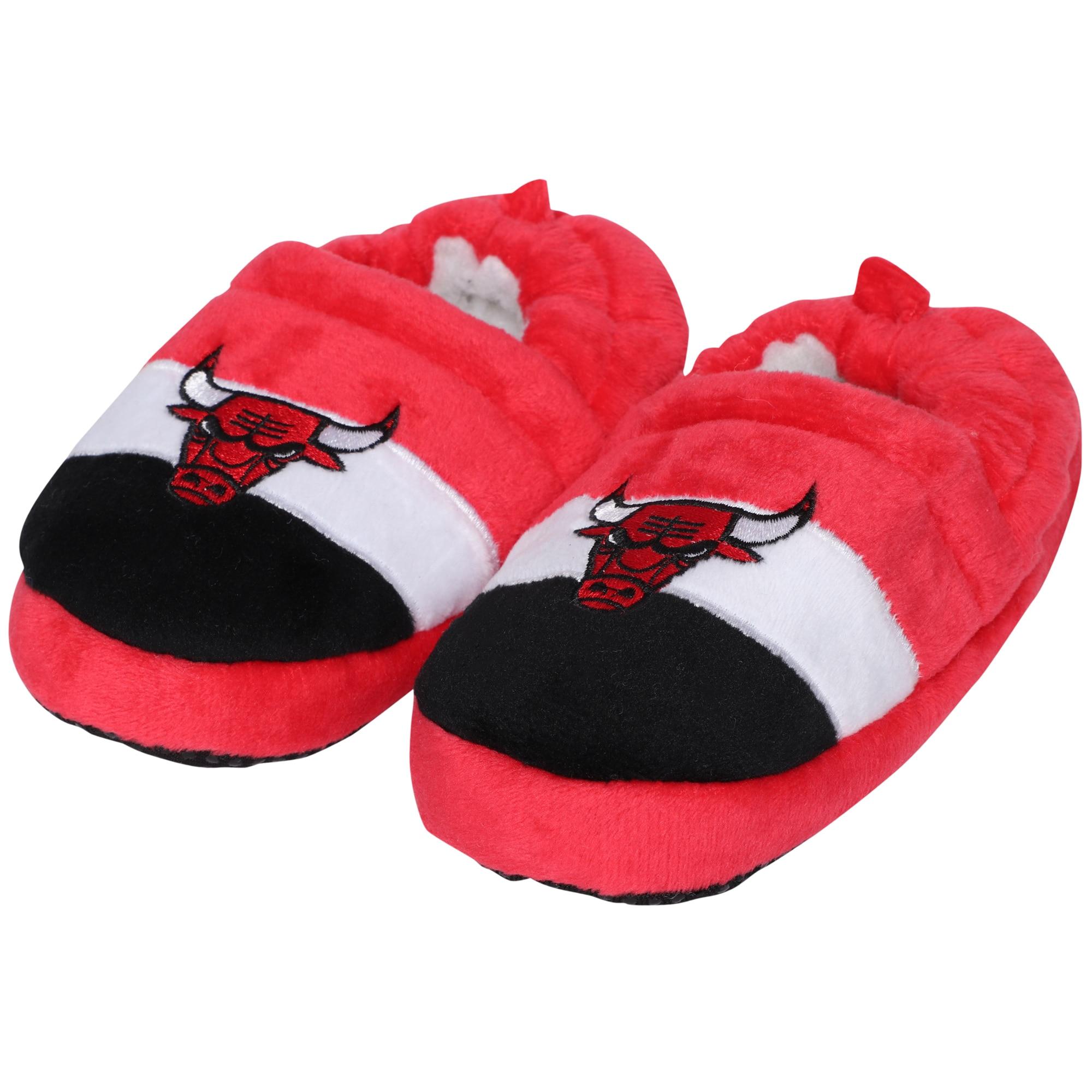 Chicago Bulls Toddler Color Block Close Back Slippers