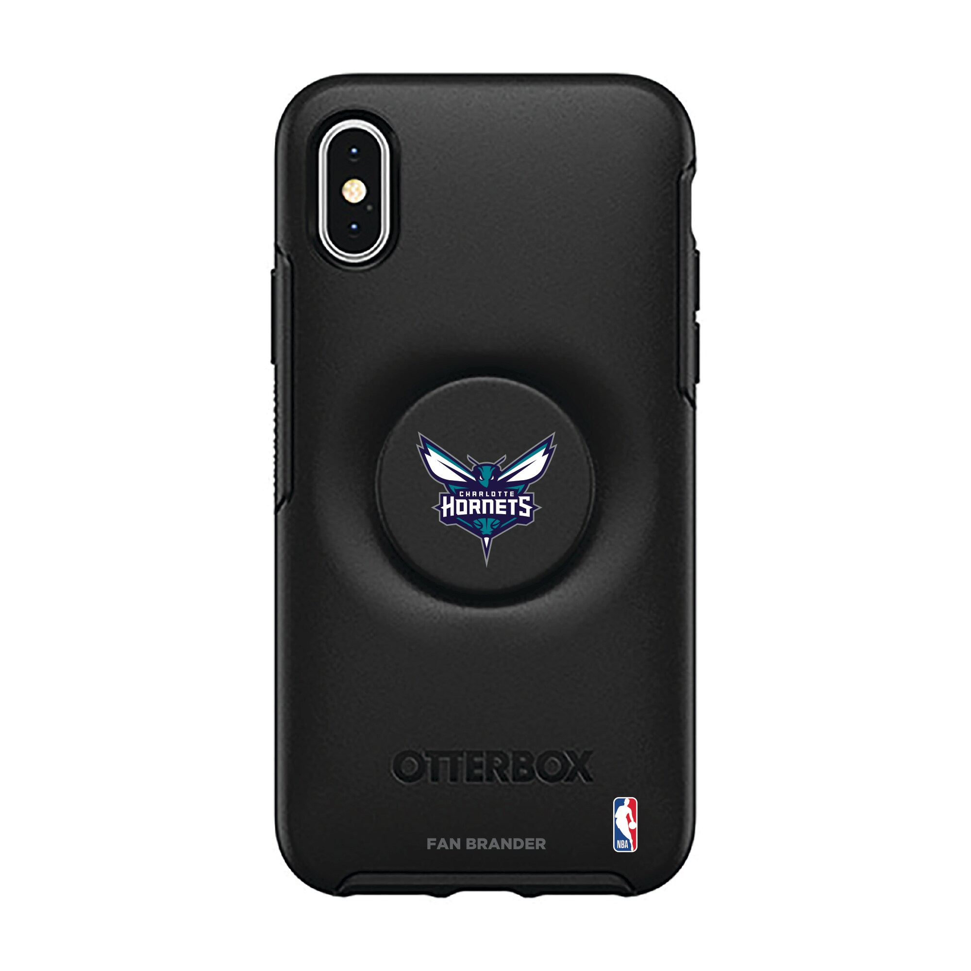 Charlotte Hornets OtterBox Otter + Pop Symmetry Series iPhone Case with Integrated PopSockets PopGrip