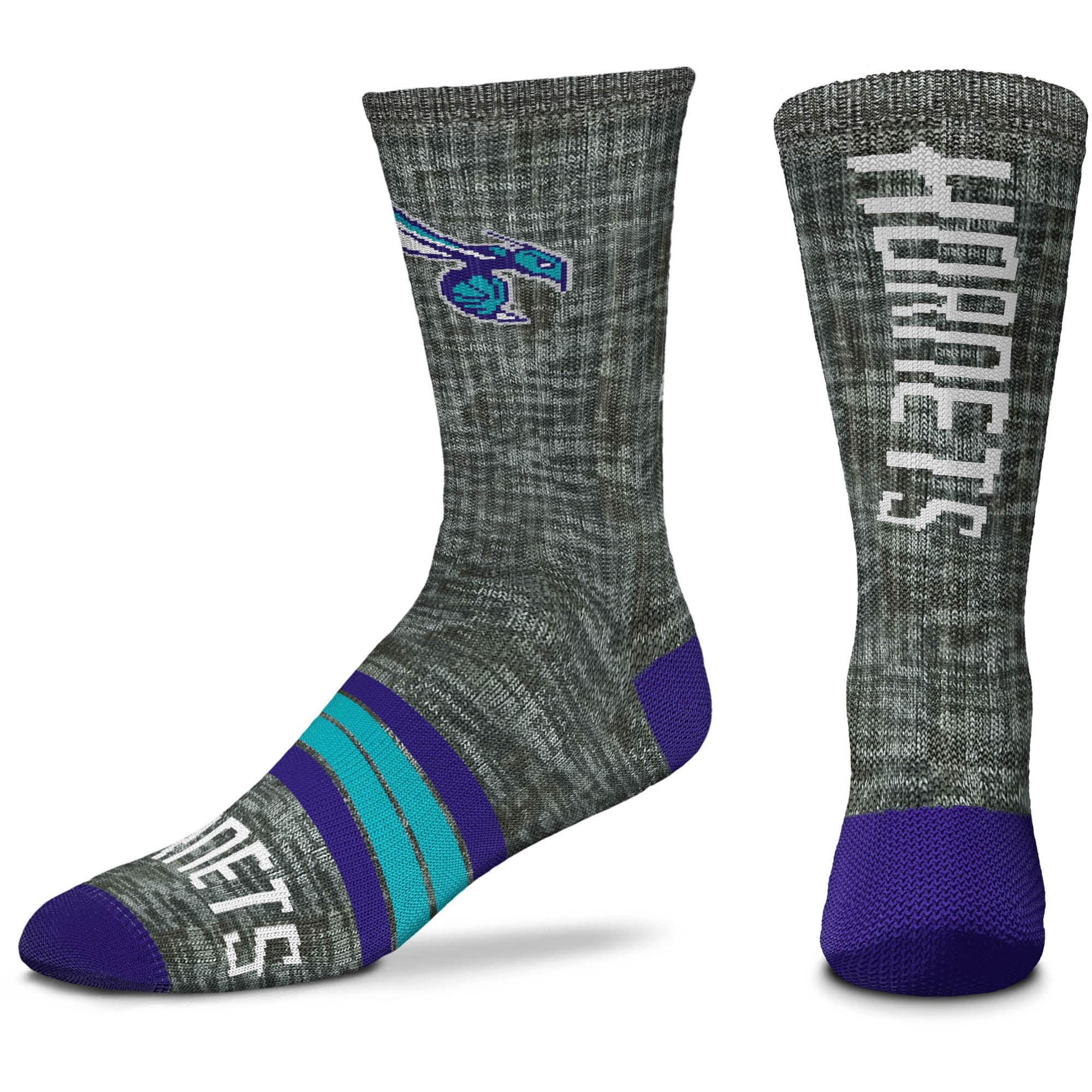 Charlotte Hornets For Bare Feet Quad Crew Socks