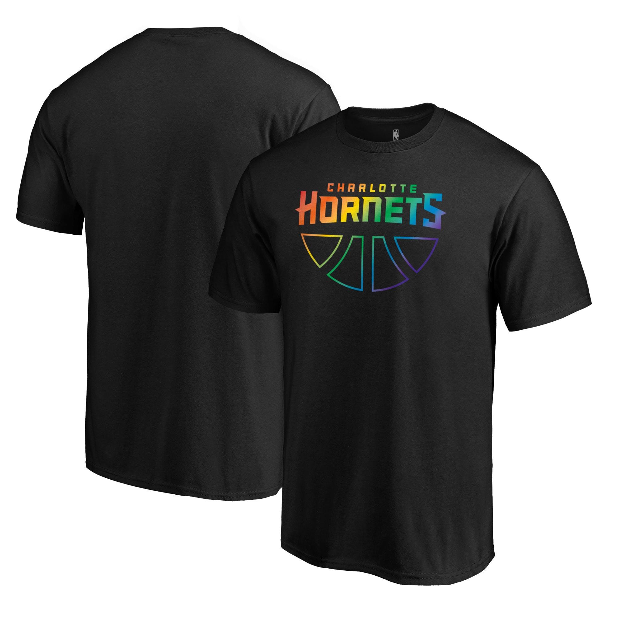 Charlotte Hornets Fanatics Branded Team Pride Wordmark T-Shirt - Black