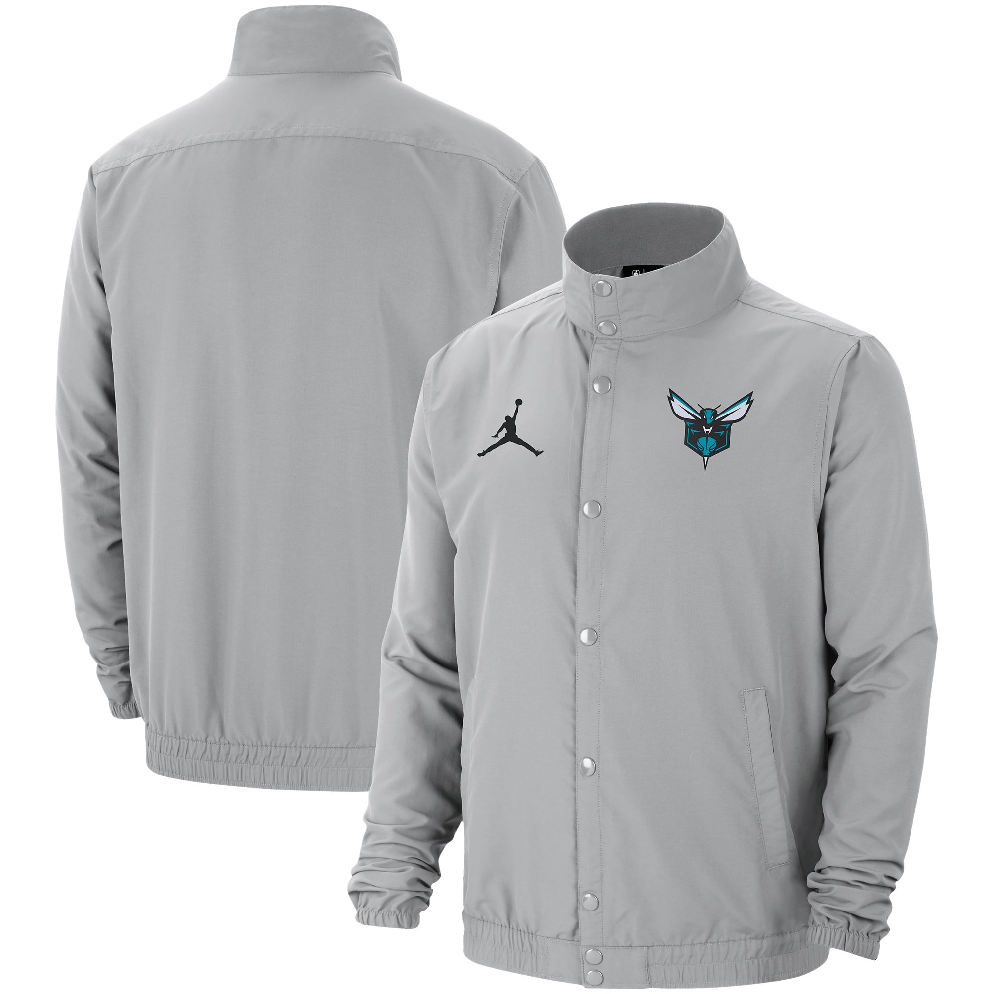 Charlotte Hornets Jordan Brand City Edition 2.0 Lightweight DNA Full-Snap Jacket - Gray