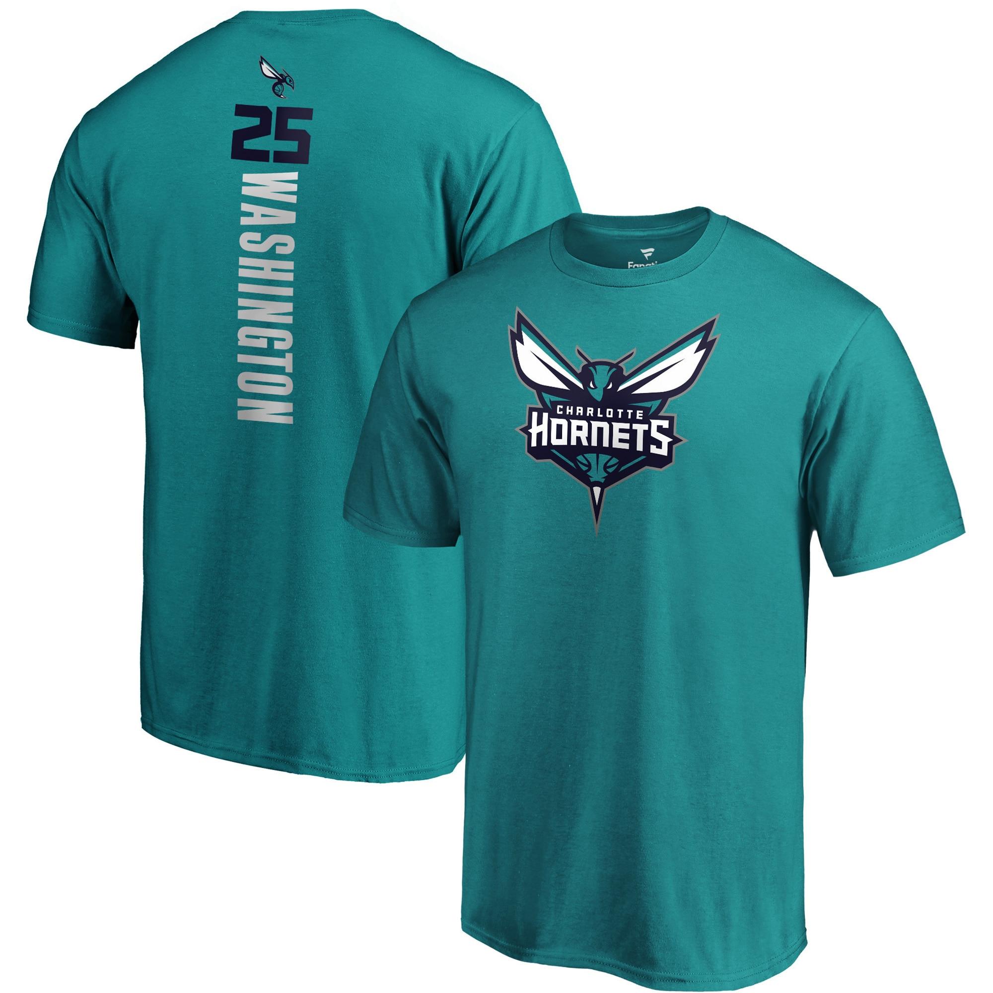 PJ Washington Charlotte Hornets Fanatics Branded Playmaker Name & Number Team Logo T-Shirt - Teal