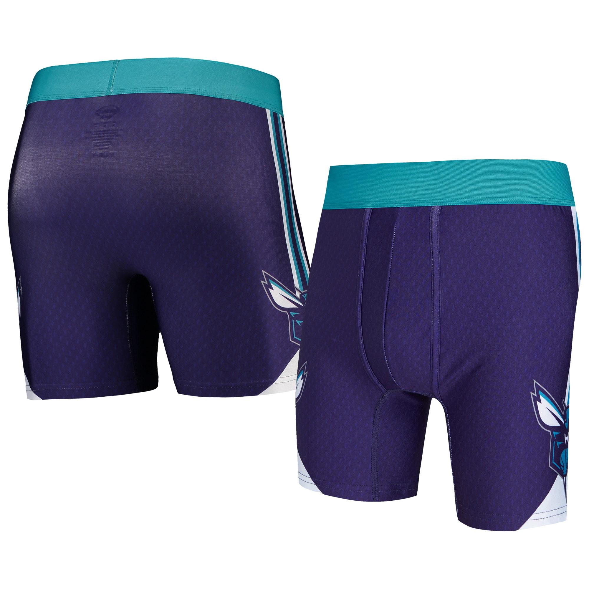 Charlotte Hornets Concepts Sport Flyaway Swingman Boxer Briefs - Purple