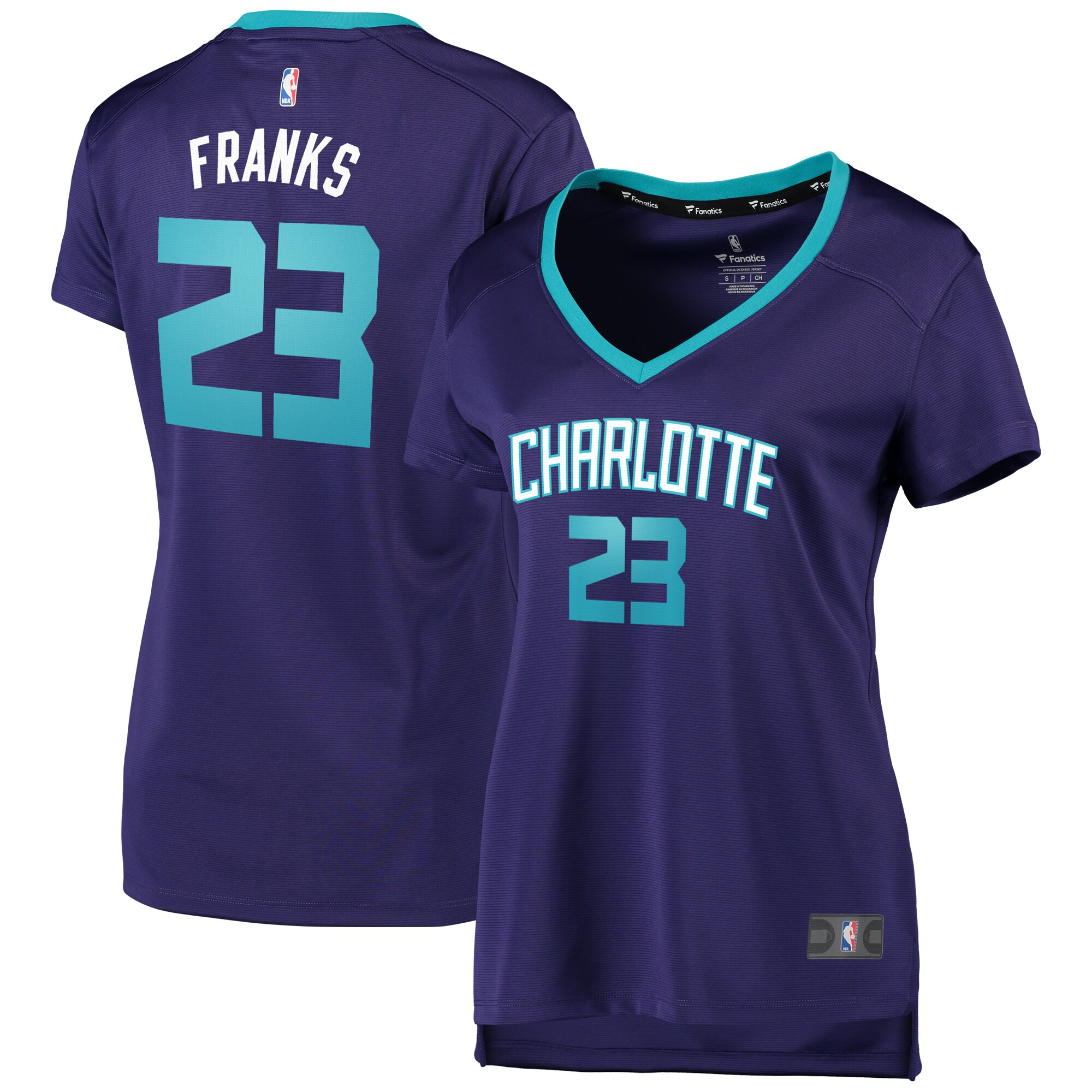 Robert Franks Charlotte Hornets Fanatics Branded Women's Fast Break Replica Jersey Purple - Statement Edition