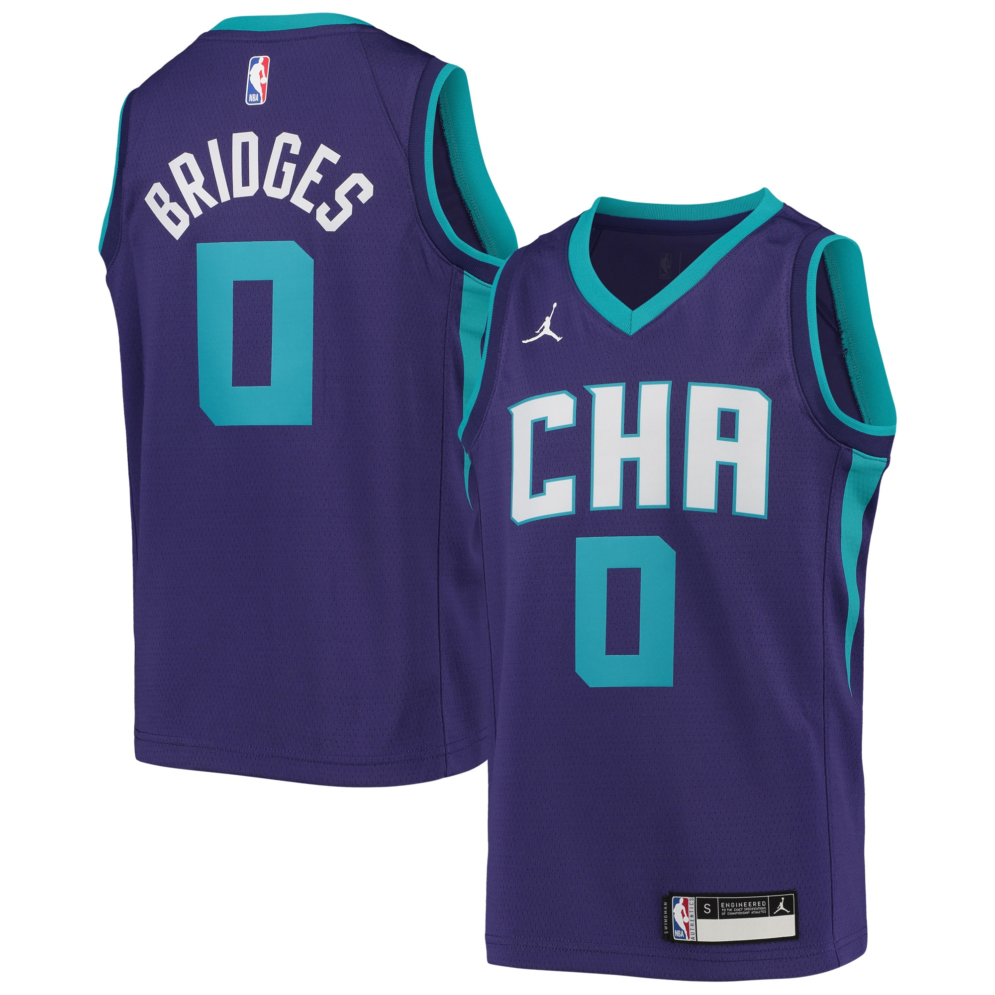 Miles Bridges Charlotte Hornets Nike Youth Swingman Player Jersey - Statement Edition - Purple
