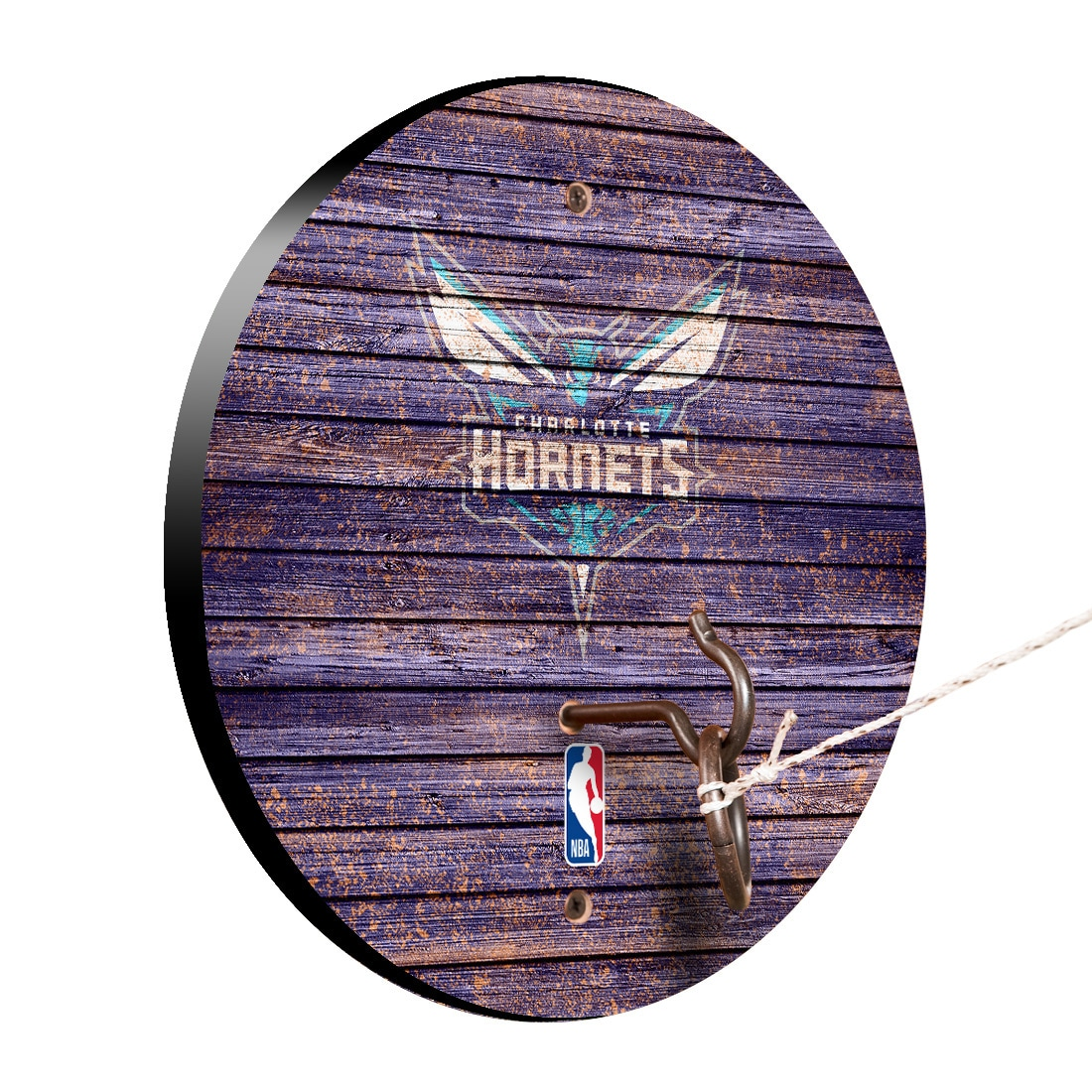Charlotte Hornets Weathered Design Hook and Ring Game