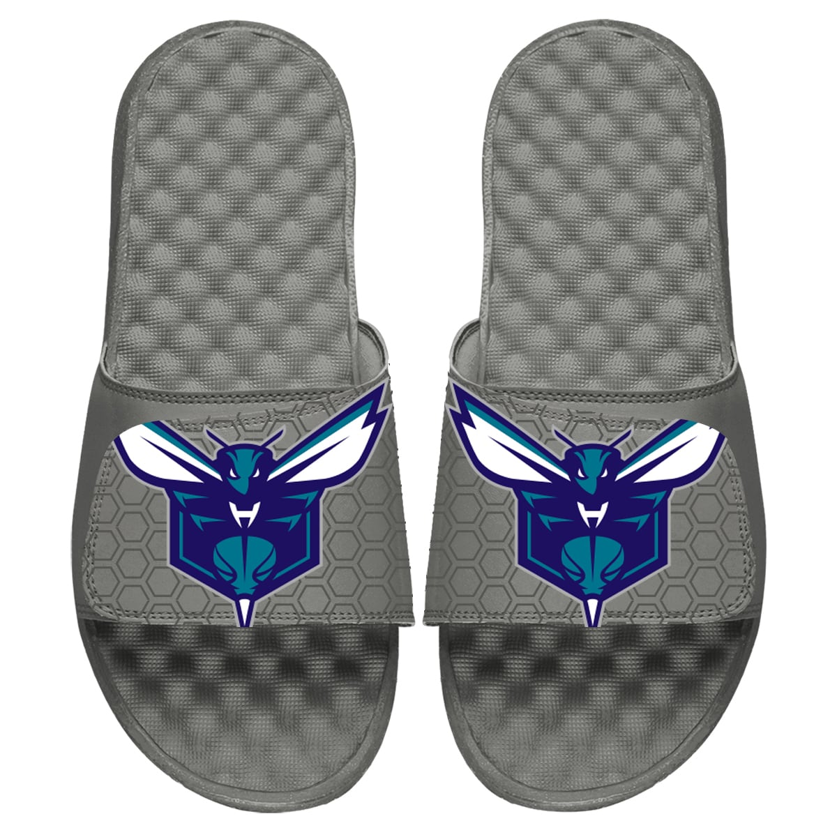 Charlotte Hornets ISlide Youth 2019/20 City Edition Slide Sandals - Gray