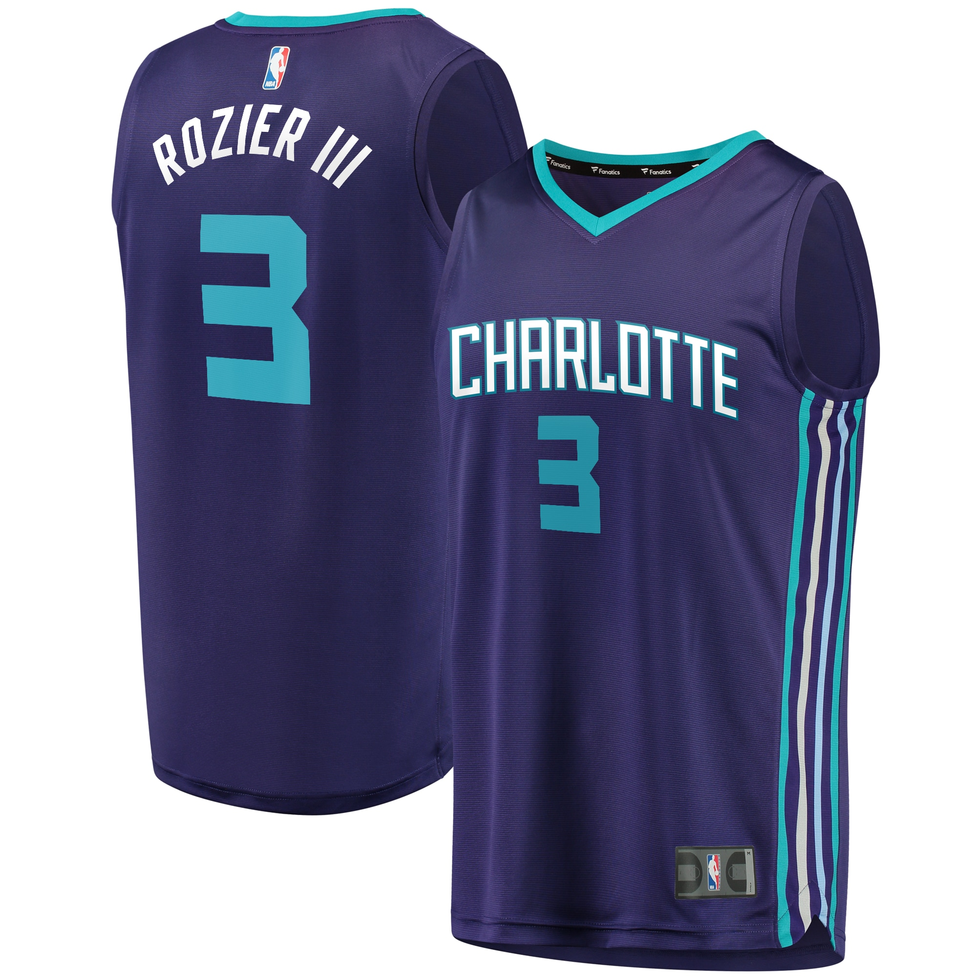Terry Rozier Charlotte Hornets Fanatics Branded Youth Fast Break Replica Jersey Purple - Statement Edition