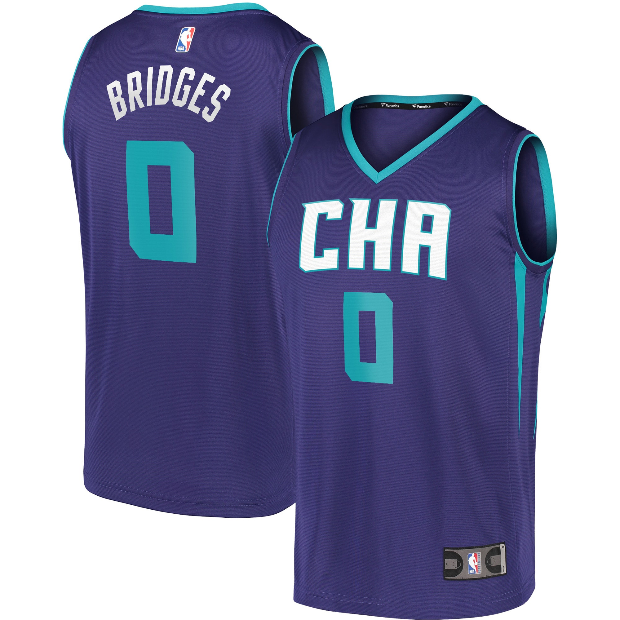 Miles Bridges Charlotte Hornets Fanatics Branded Youth Fast Break Replica Player Team Jersey - Statement Edition - Purple