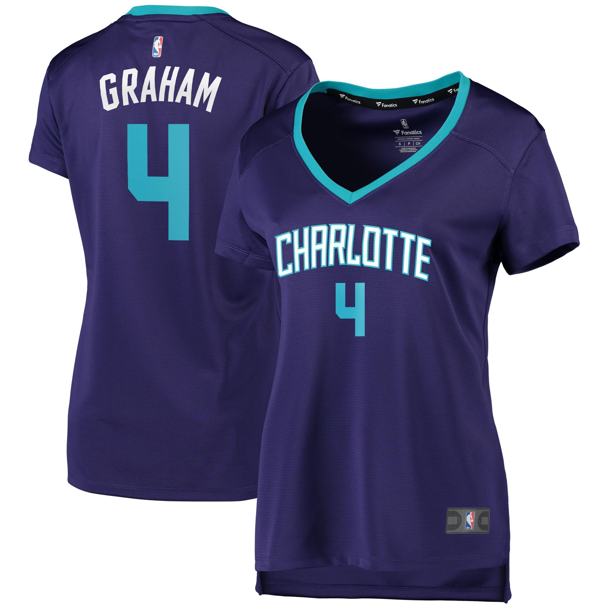 Devonte Graham Charlotte Hornets Fanatics Branded Women's Fast Break Replica Player Jersey - Statement Edition - Purple