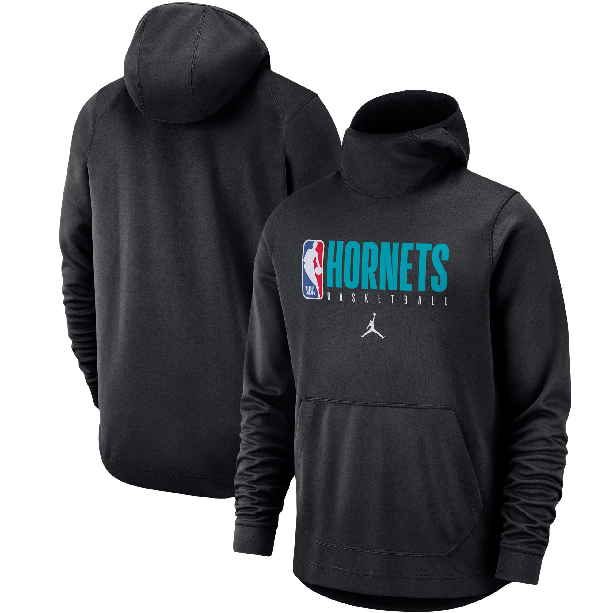 Charlotte Hornets Jordan Brand Spotlight Practice Performance Pullover Hoodie - Black
