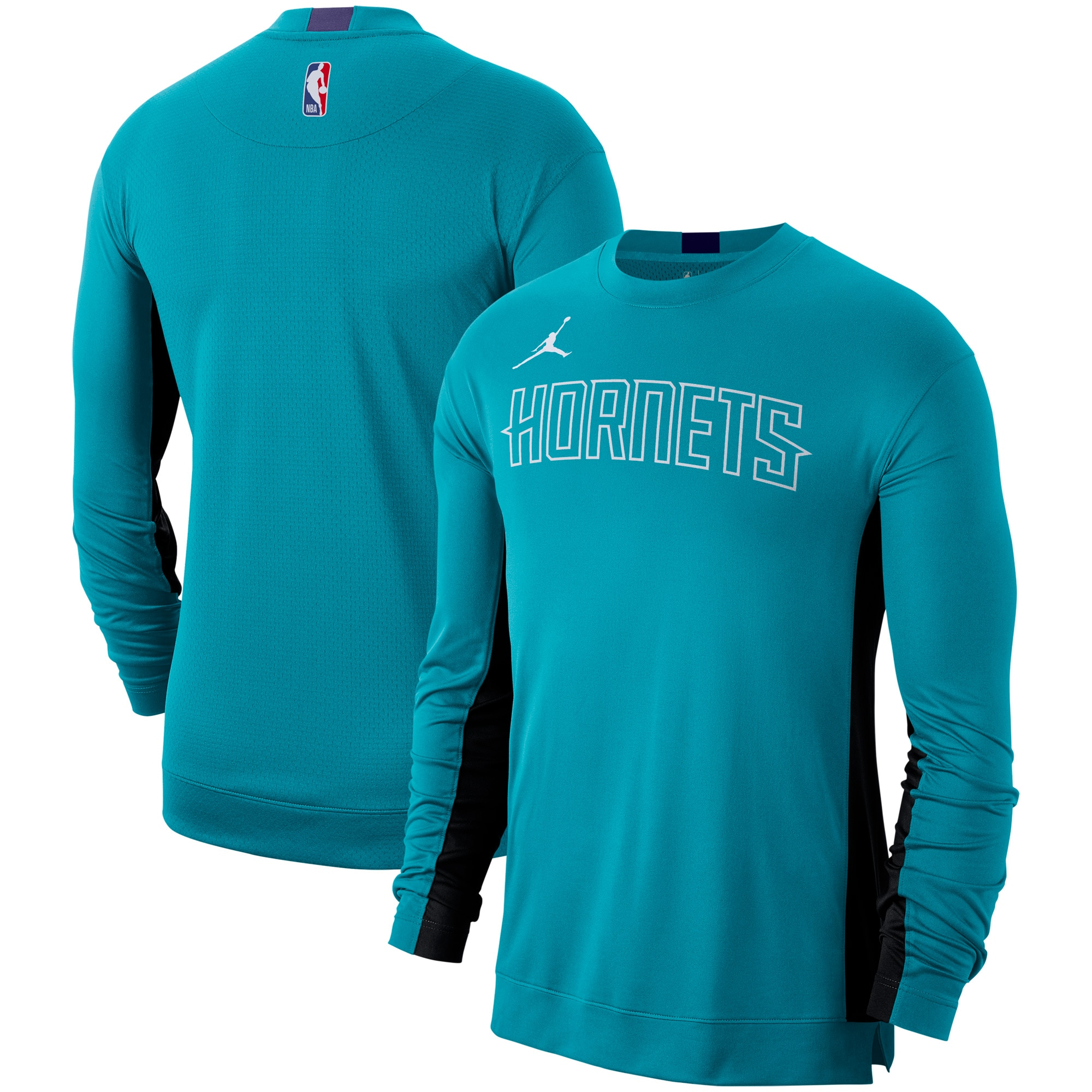 Charlotte Hornets Nike Long Sleeve Performance Shooting Shirt - Teal