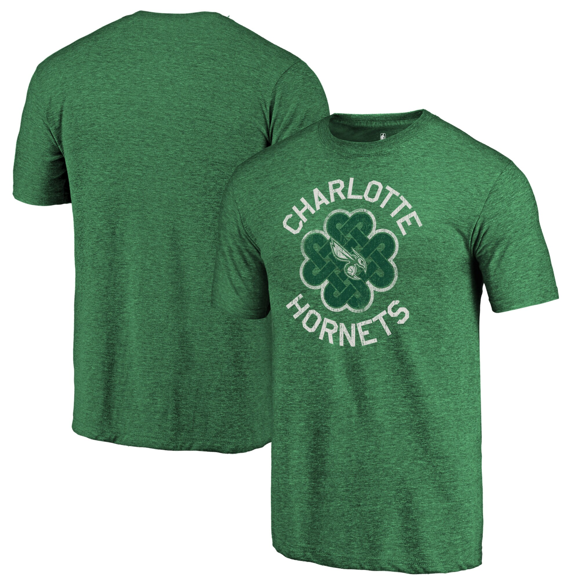 Charlotte Hornets Fanatics Branded St. Patrick's Day Luck Tradition Tri-Blend T-Shirt - Green