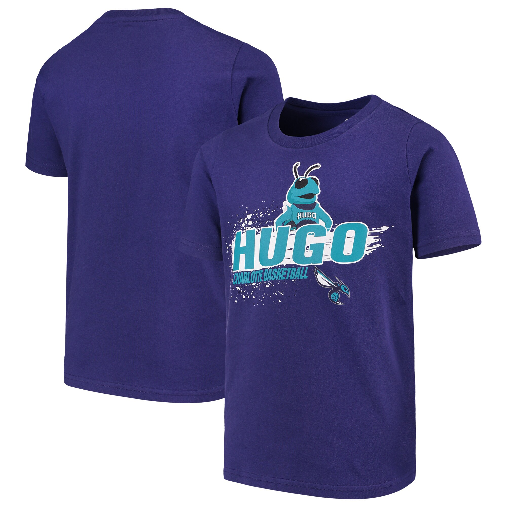 Charlotte Hornets Youth Mascot Ice Break T-Shirt - Purple