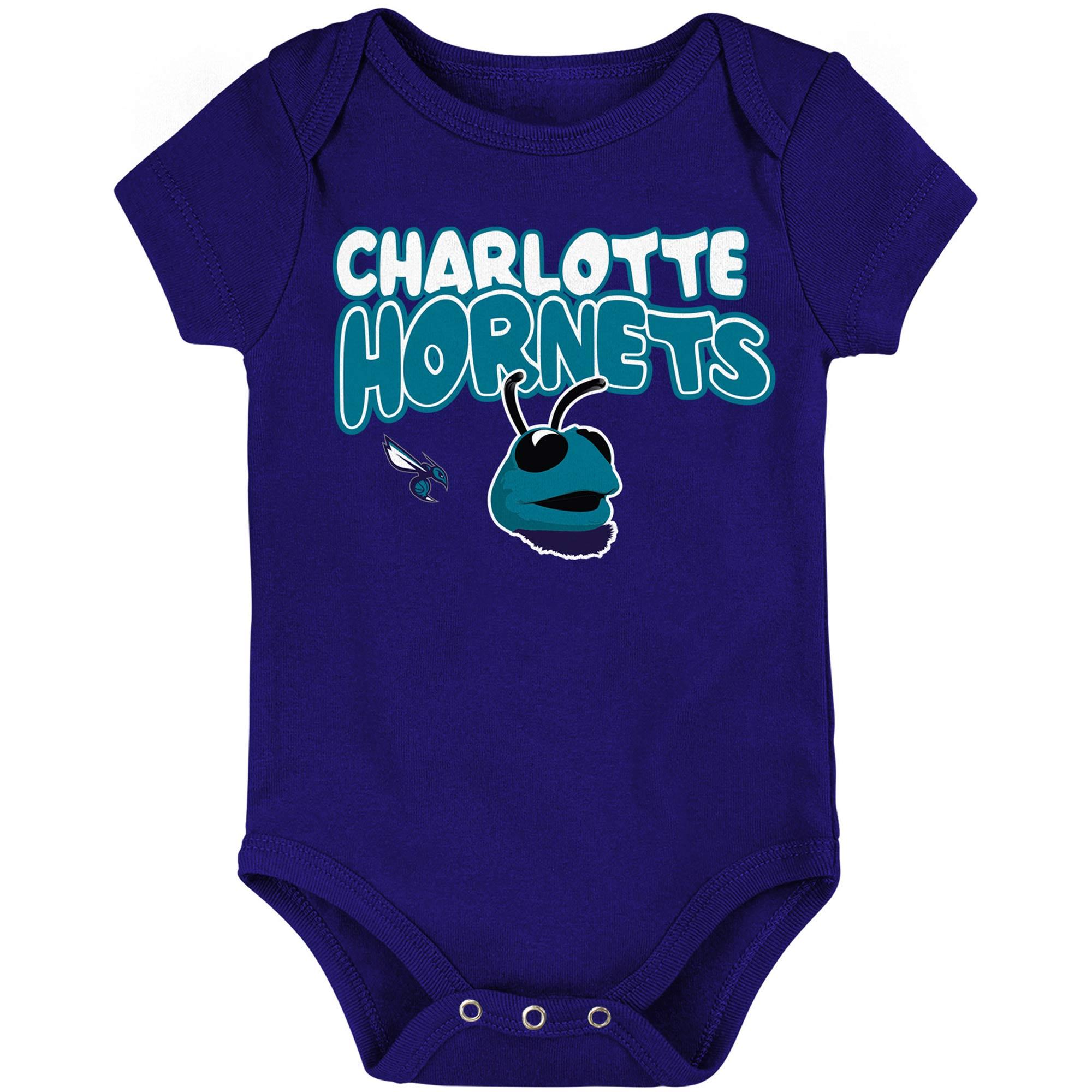 Charlotte Hornets Infant Bubble Letter Bodysuit - Purple
